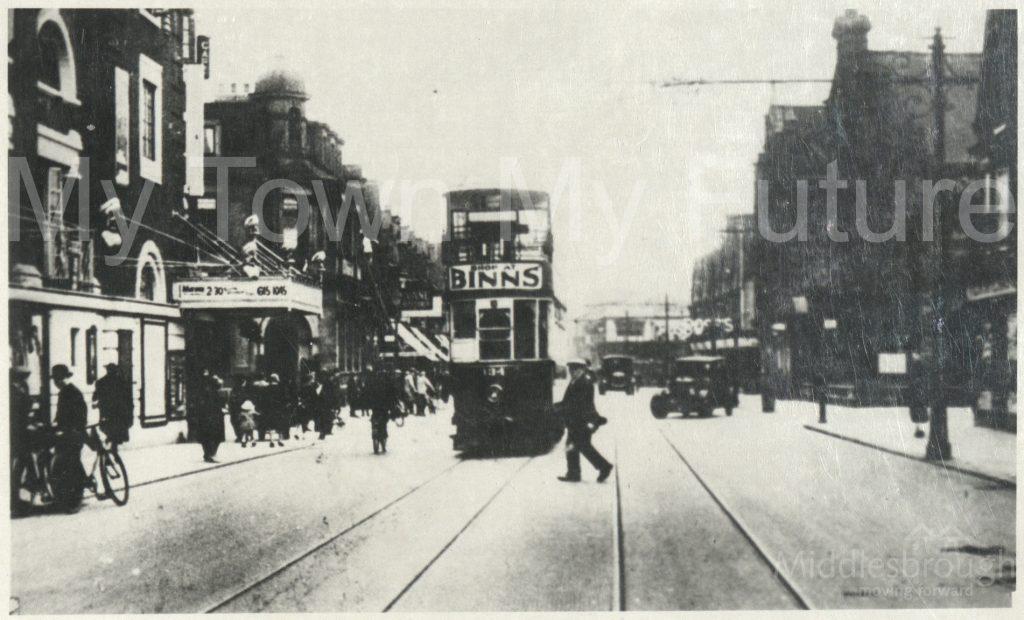 Tram on Linthorpe Road (1920)