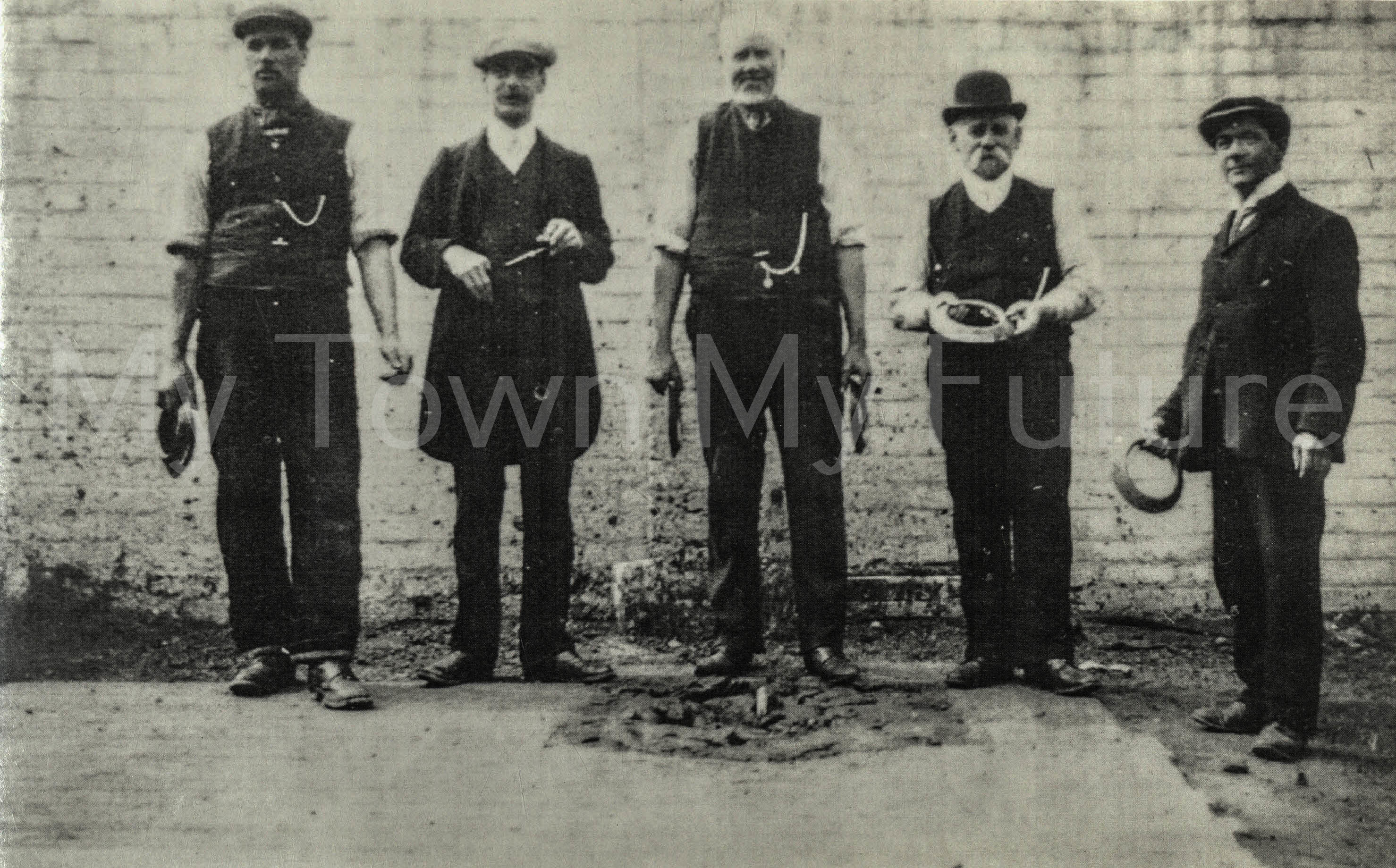 Eston, playing Quoits near to Miner's football field