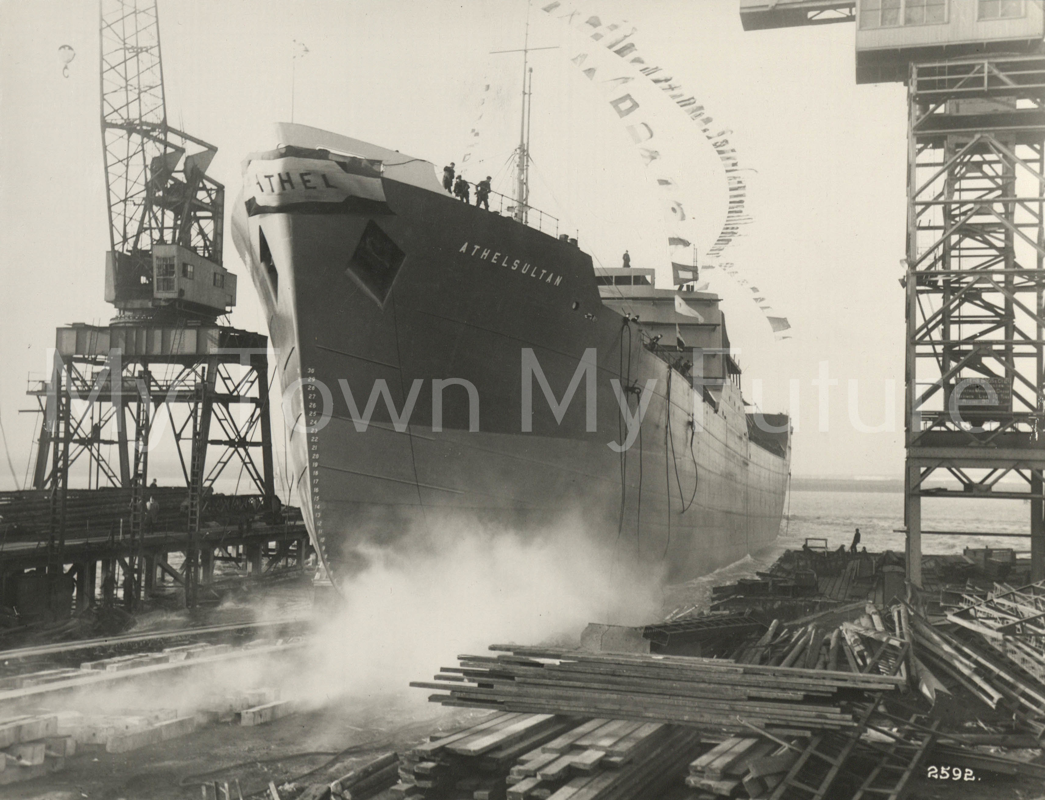 Smith's Dock Ships - Athelsultan Launch for Athel Line 1951
