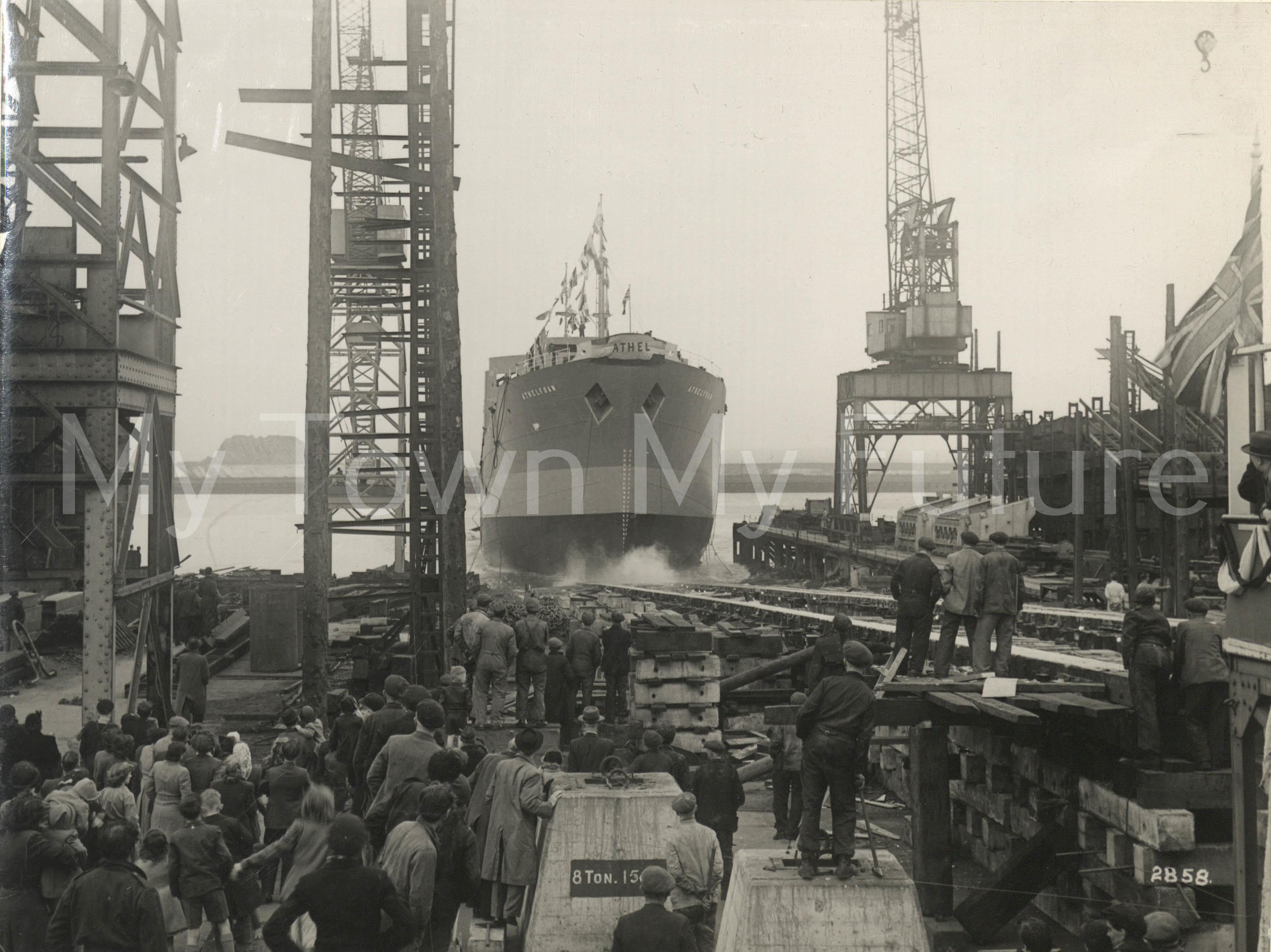 Smith's Dock Ships - Athelfoam Launch