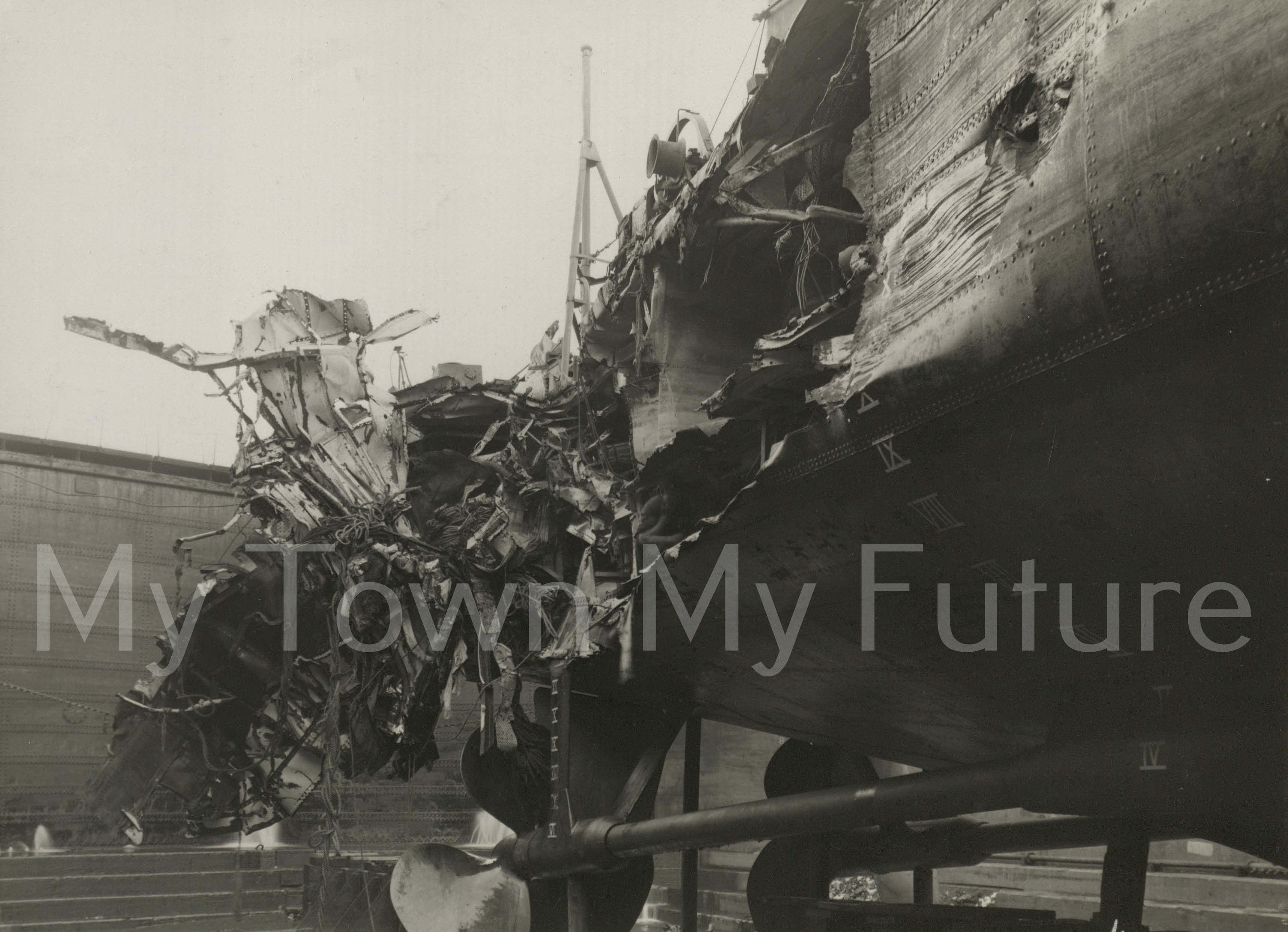 Smiths Dock Ships HMS Lavelin WWII Repair