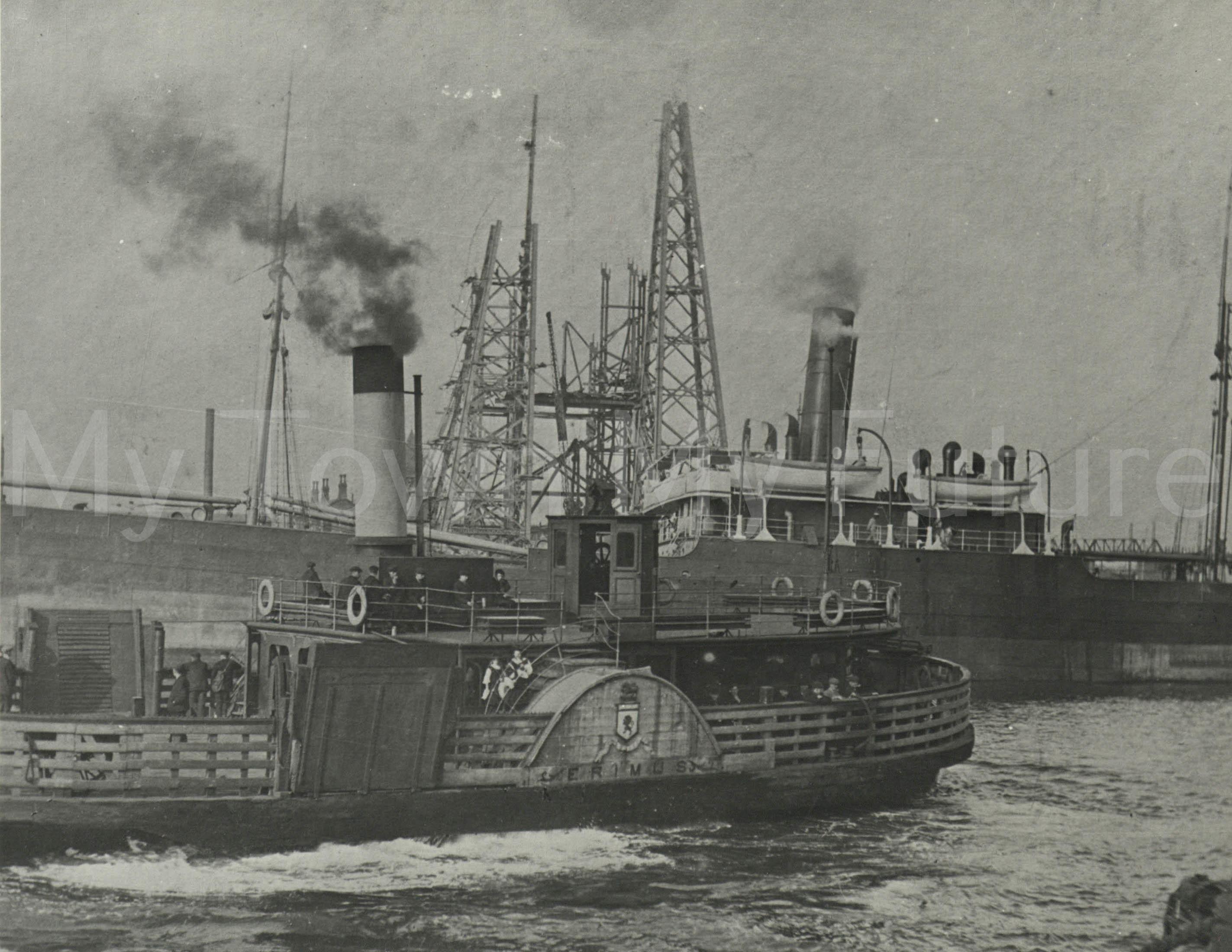 Ferrys -Middlesbrough Ferry Erimus at work transporter constr1911