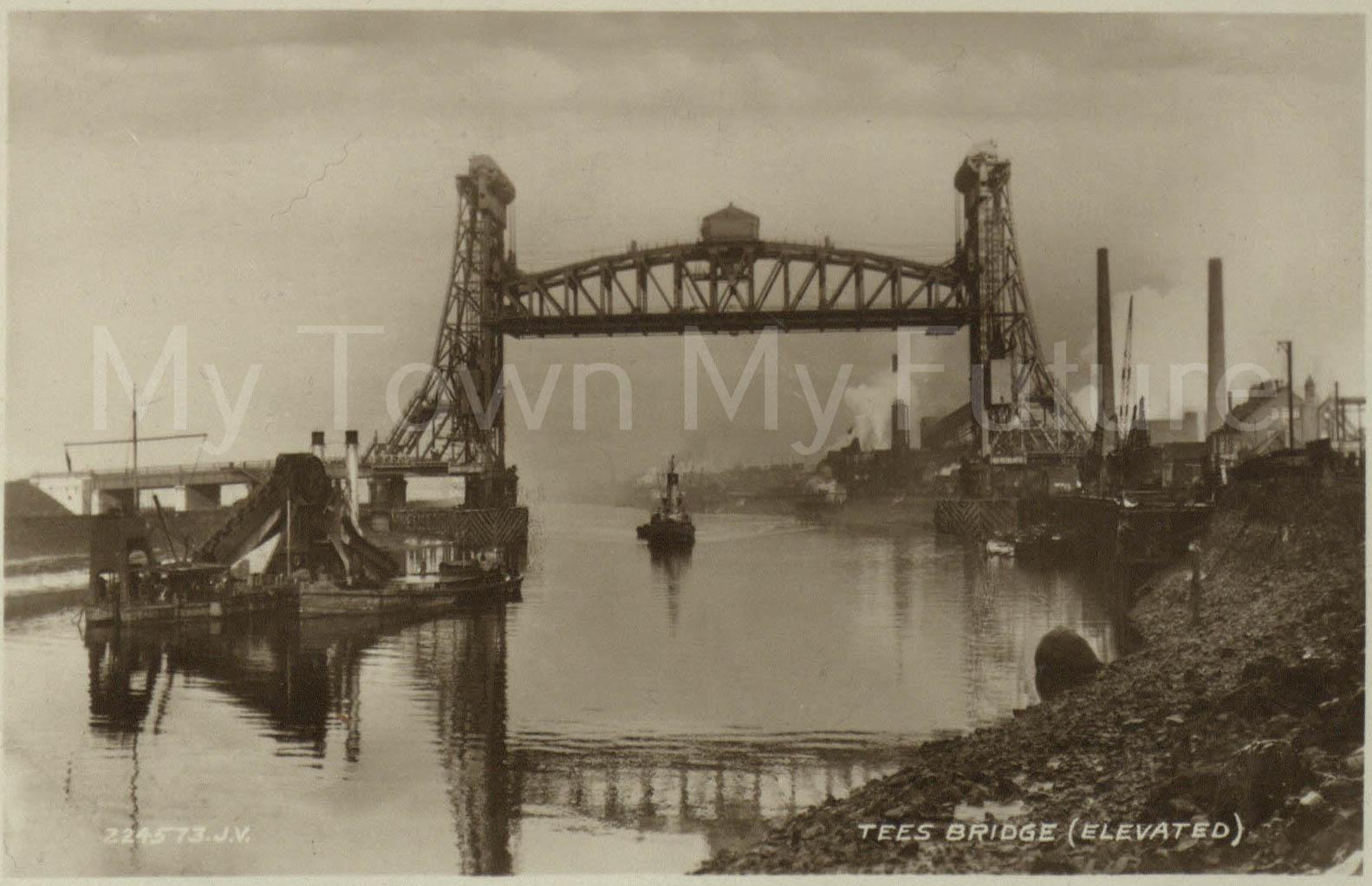 Newport Bridge - Postcard Mrs KIng