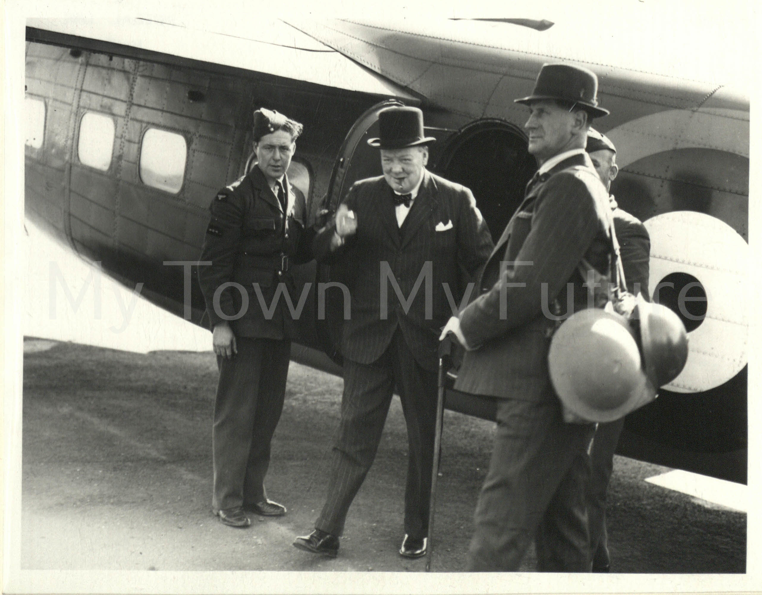 Prime Minister Winston Churchill - Visiting Shipyard 31st July 1940 - Visit to North East of England Imperial War Museum