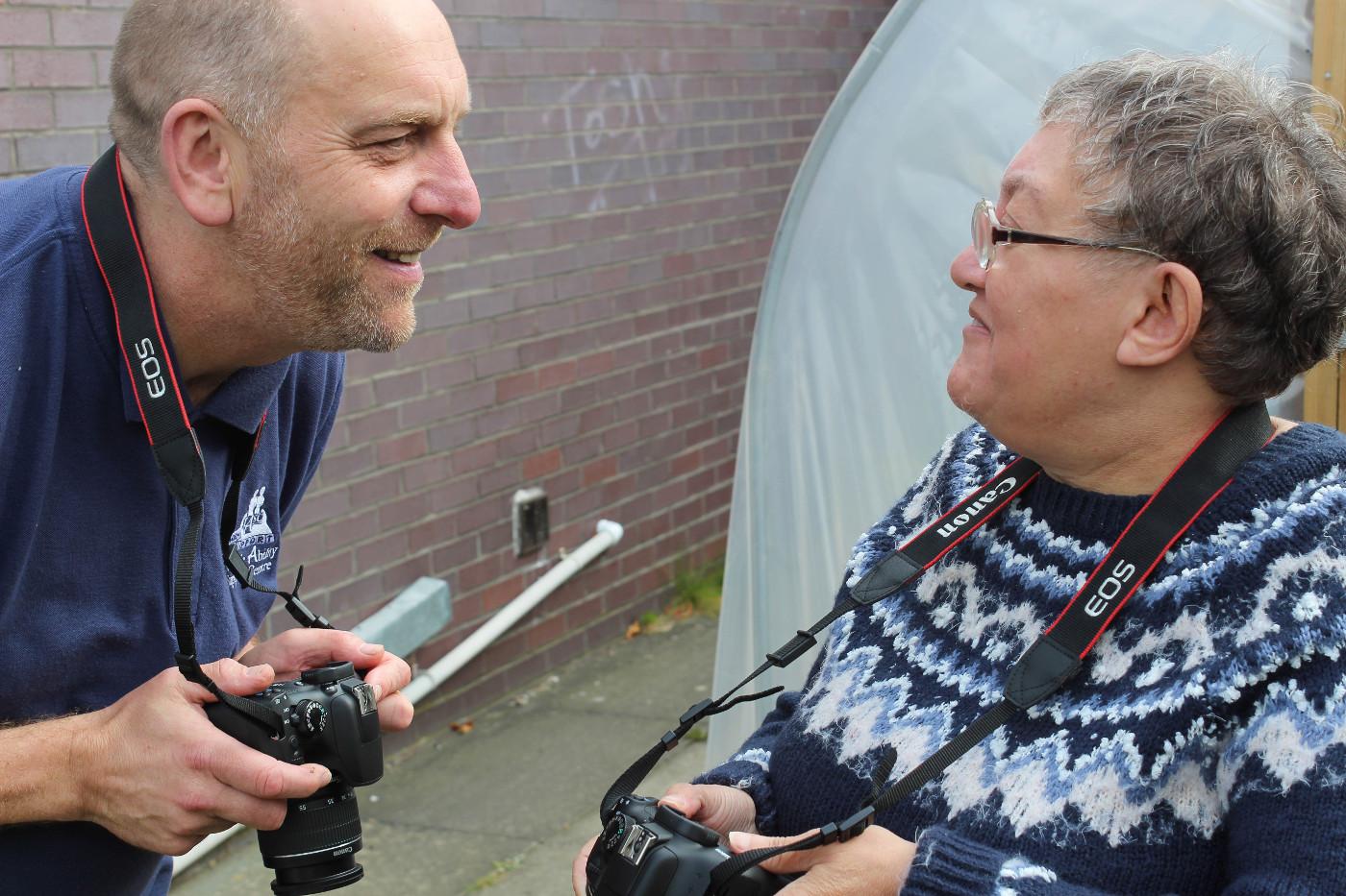 Bryan and Irene taking photos