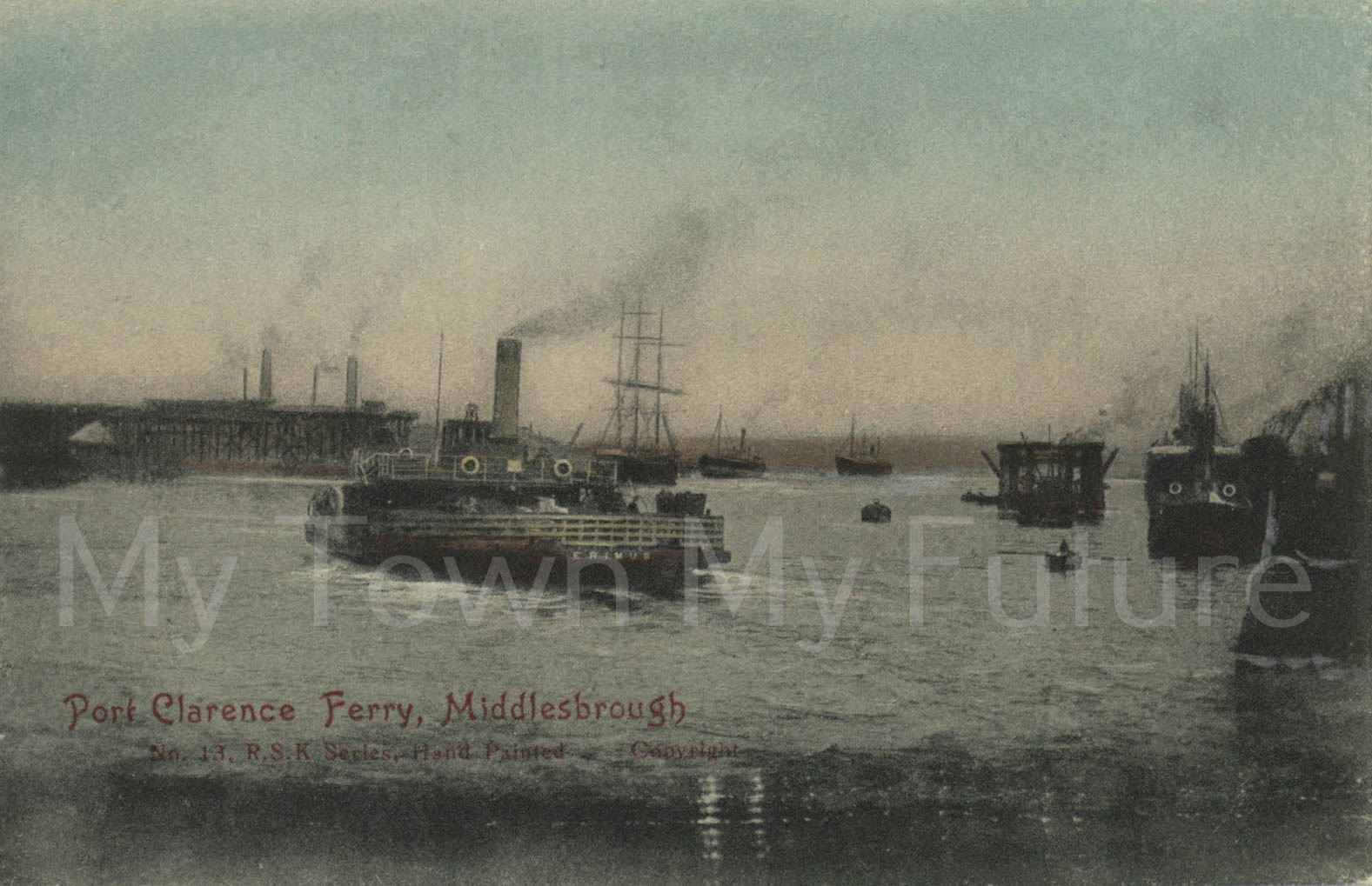 Ferrys - Port Clarence Ferry - Postcard__RSK Series_