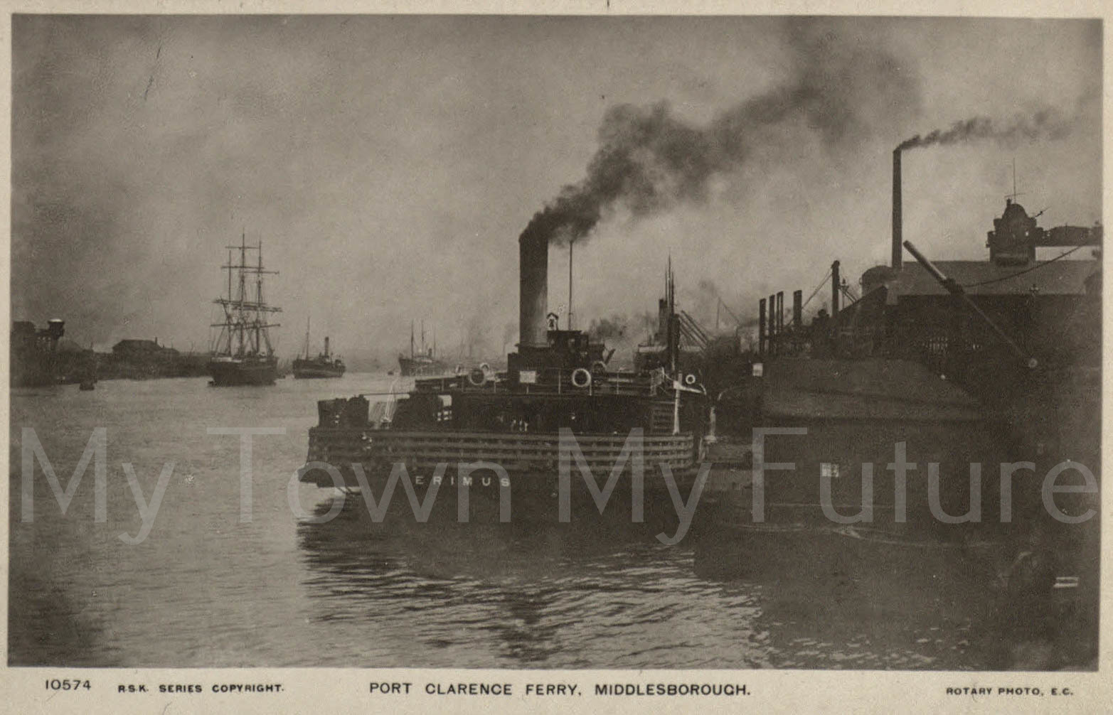 Ferrys - Port Clarence Ferry, Middlesbrough - Postcard 10674__RSK Series_