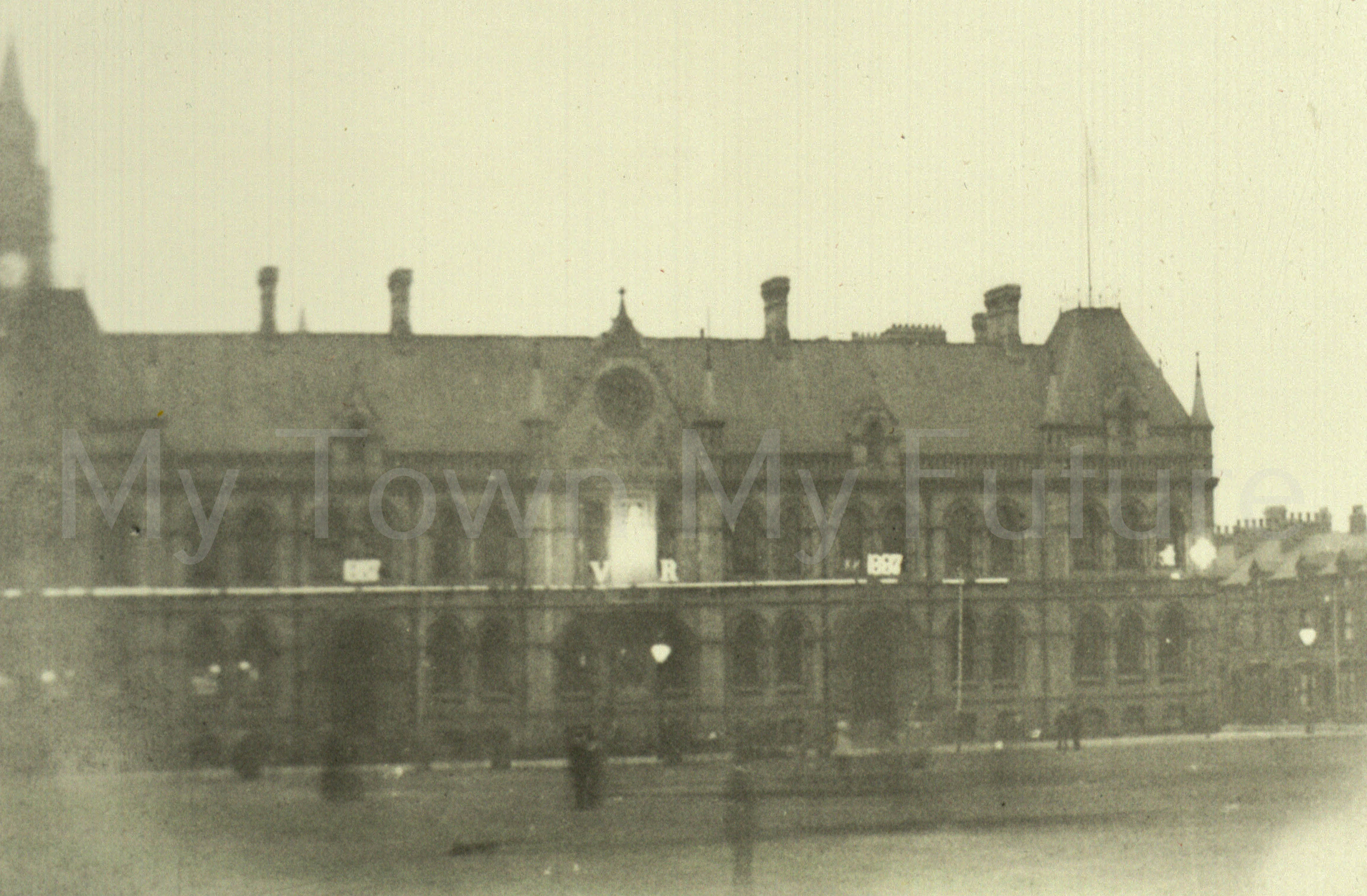 New Town Hall_1887- Earliest Photograph of the New Town Hall found so far