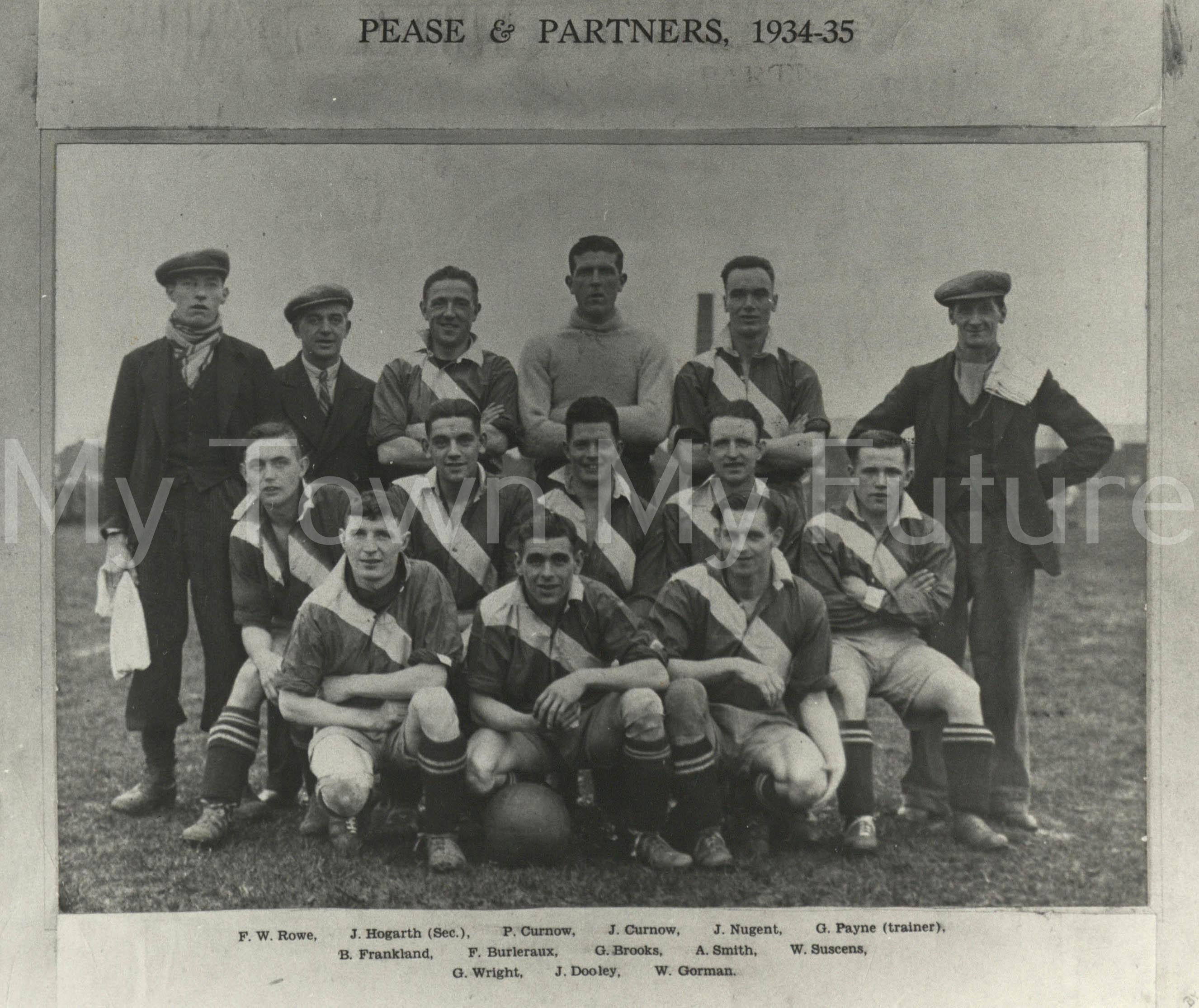 Football Pease & Partners FC 1934-1935