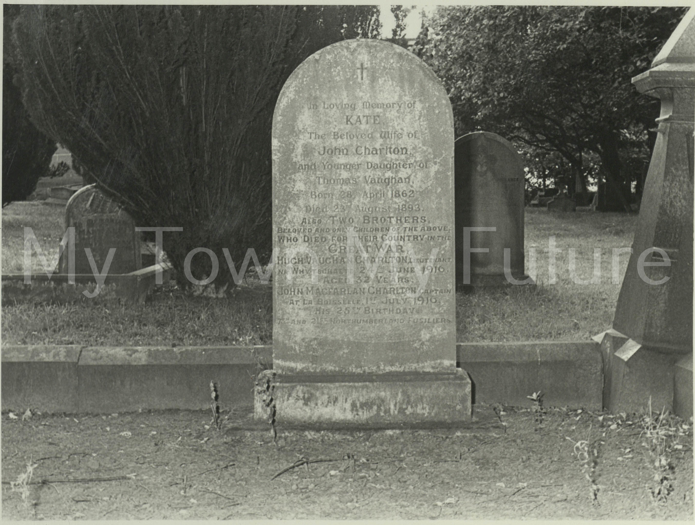 Thomas Vaughn's Daughter Kate's Grave, Marton Church