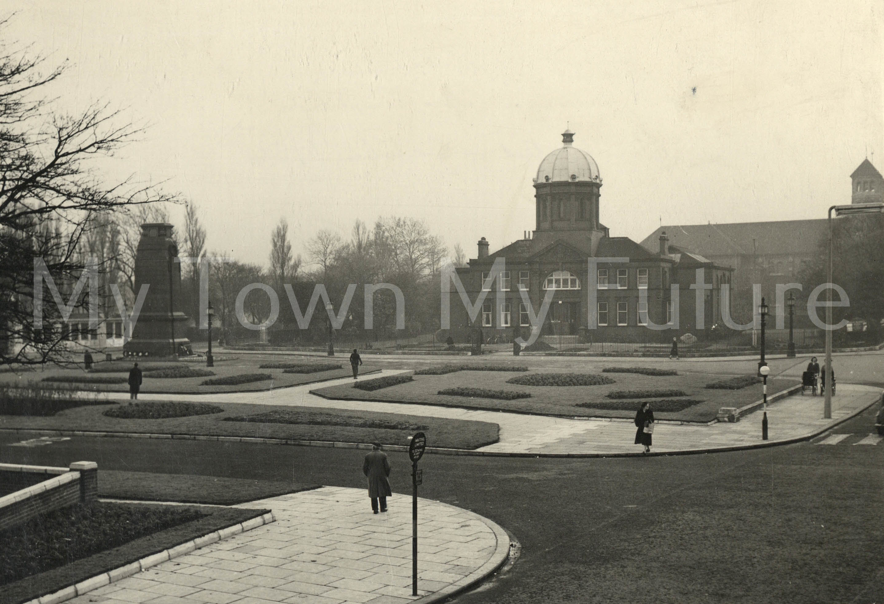 Park Road North diversion after completion (1954)