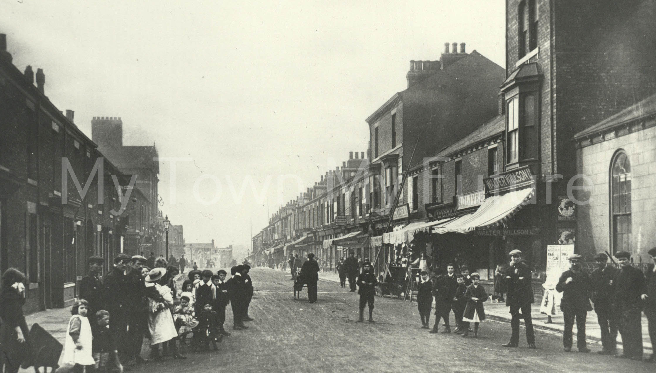 Undated postcard of Smeaton Street, North Ormesby