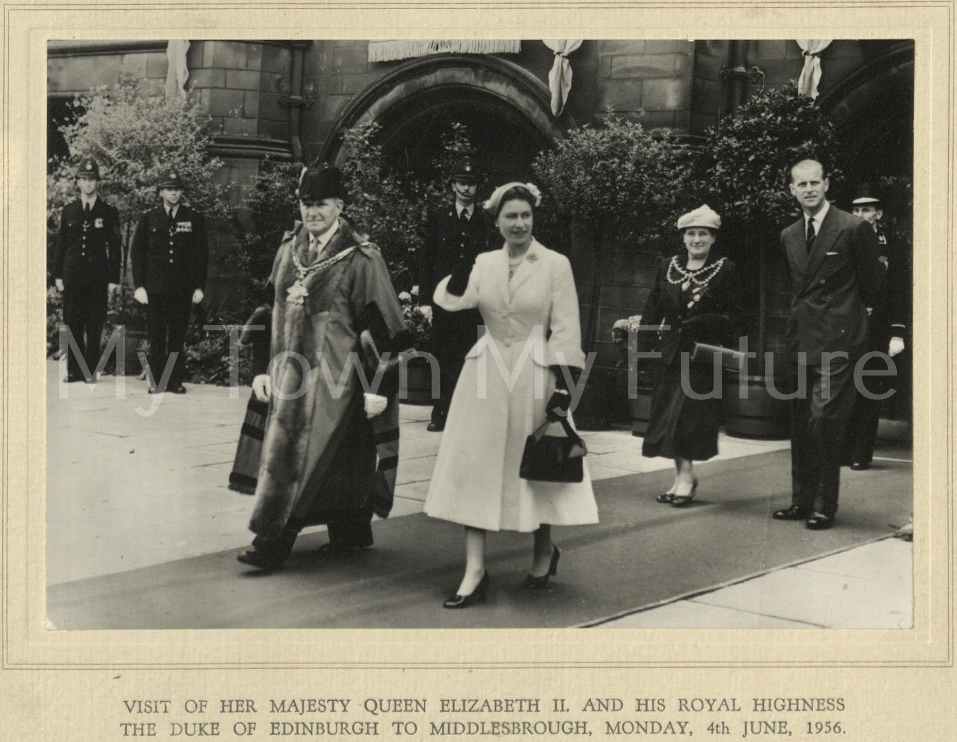 Visit of Queen Elizabeth & Duke Of Edinburgh (4 June 1956)
