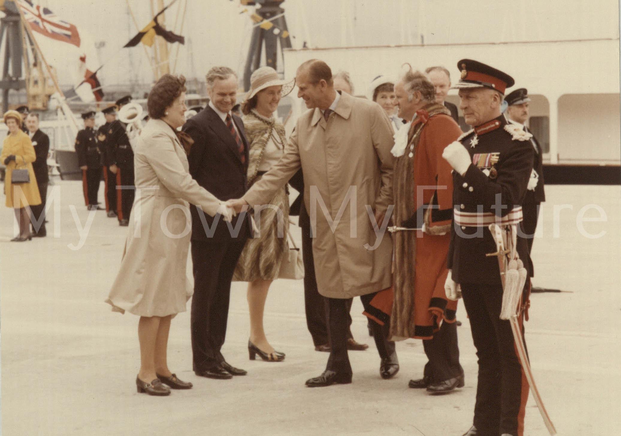 Queen Elizabeth Silver Jubilee visit to Cleveland (14 July 1977)
