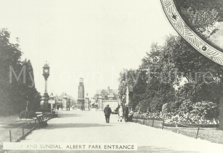 Albert Park - Clock and Sundail