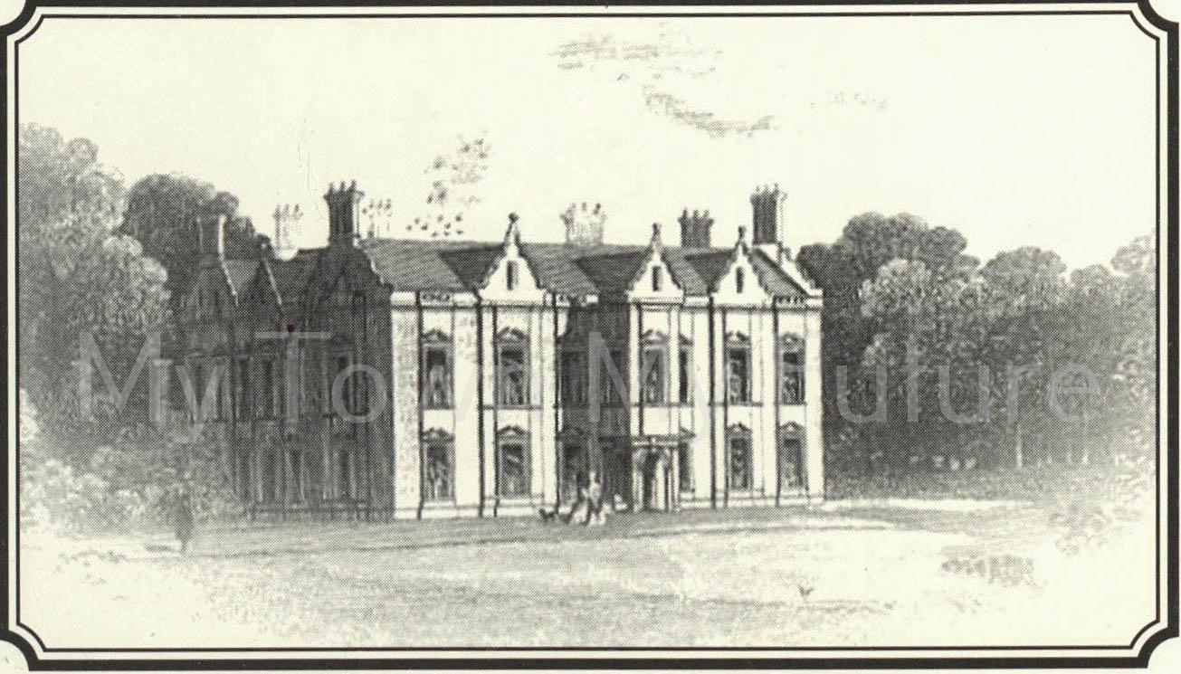 Acklam Hall Engraving 1845
