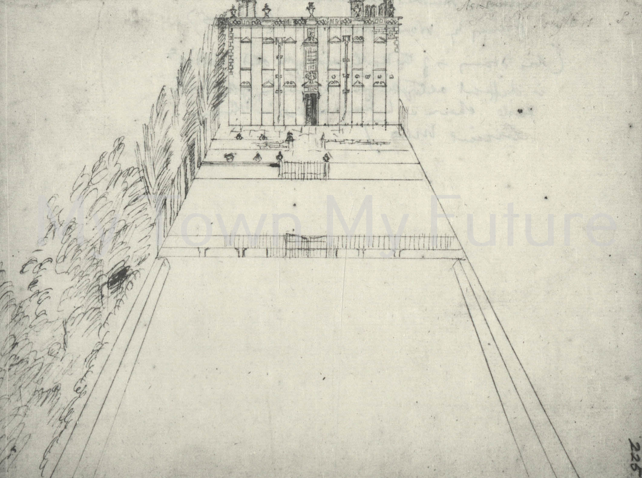 Drawing of Acklam Hall