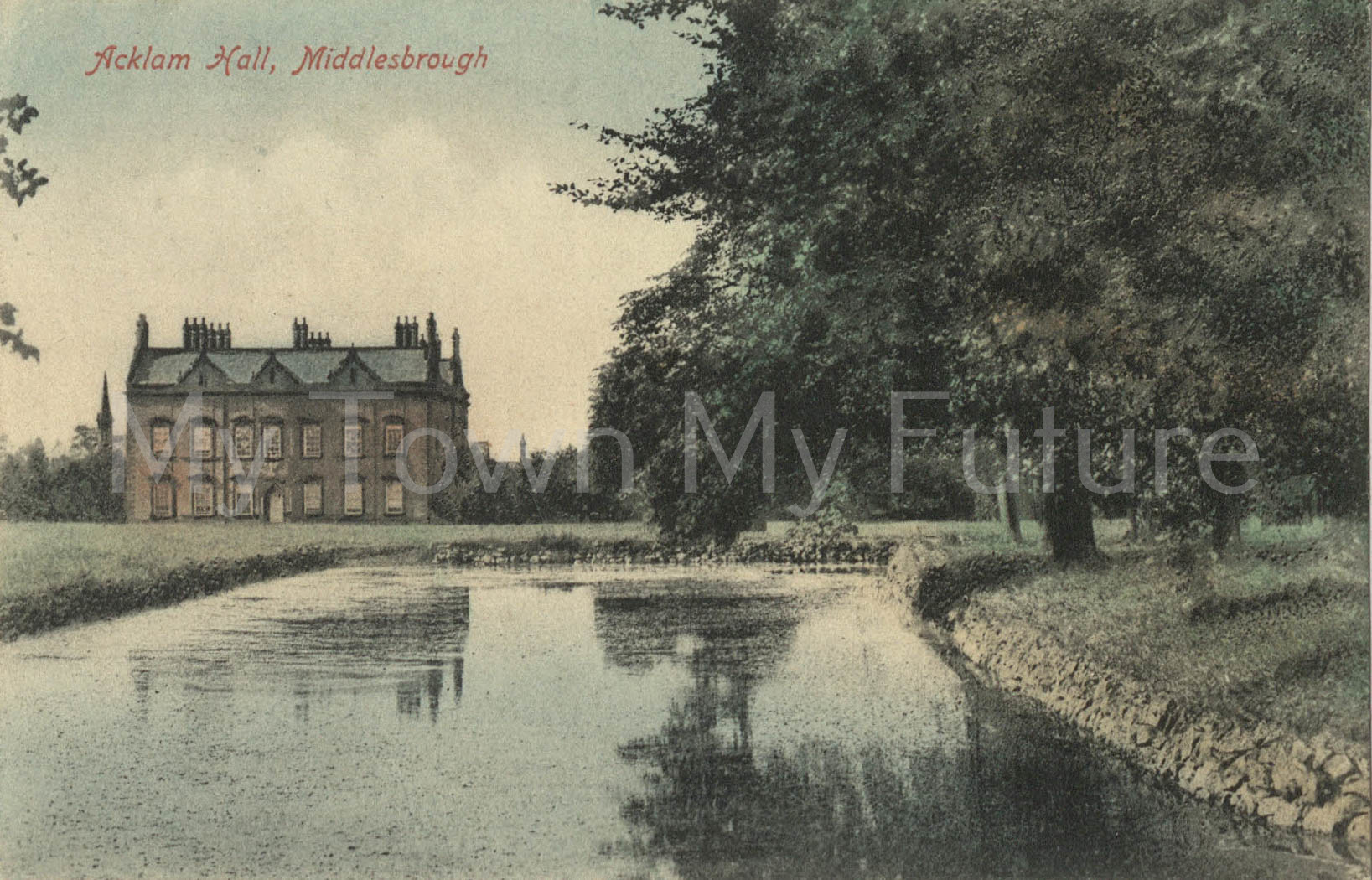 Acklam Hall copy of postcard