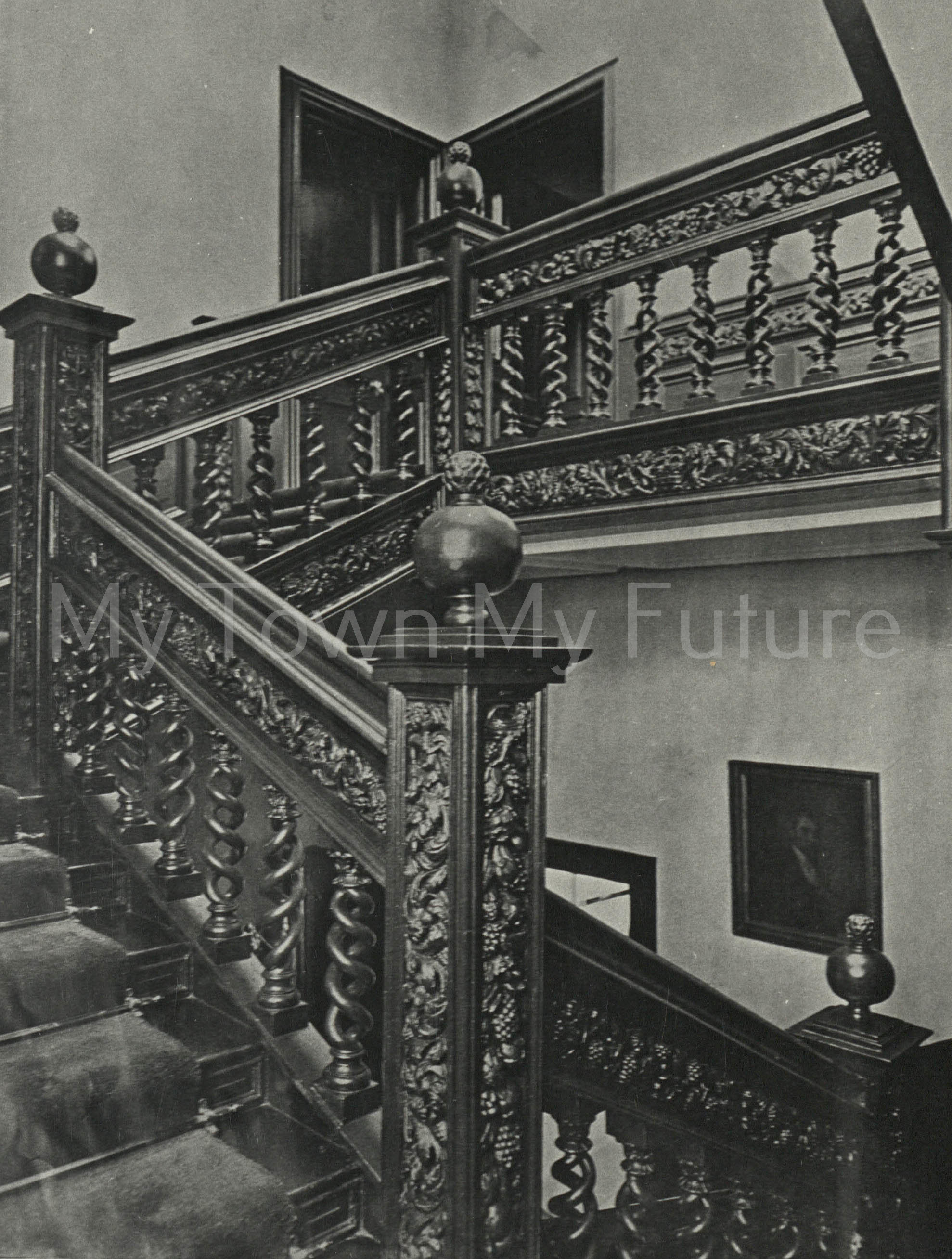 Acklam Hall Double twisted spiral balusters