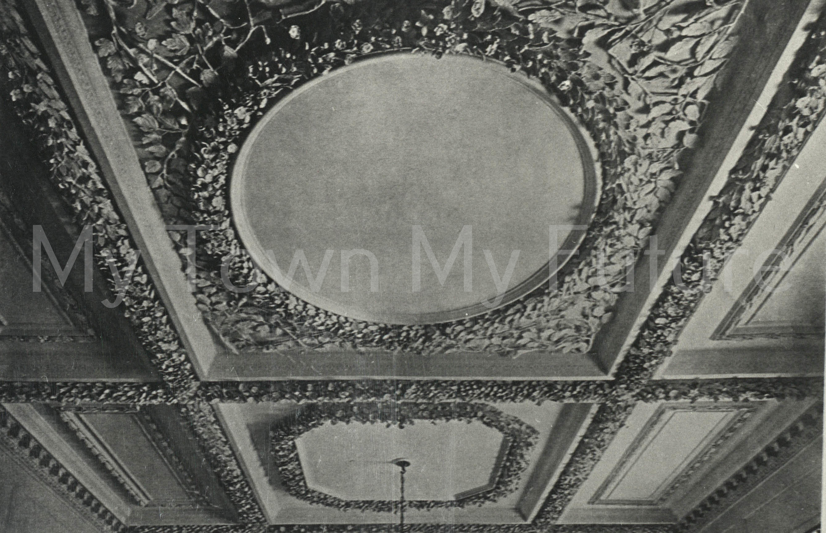 Acklam Hall new ceiling in Hall