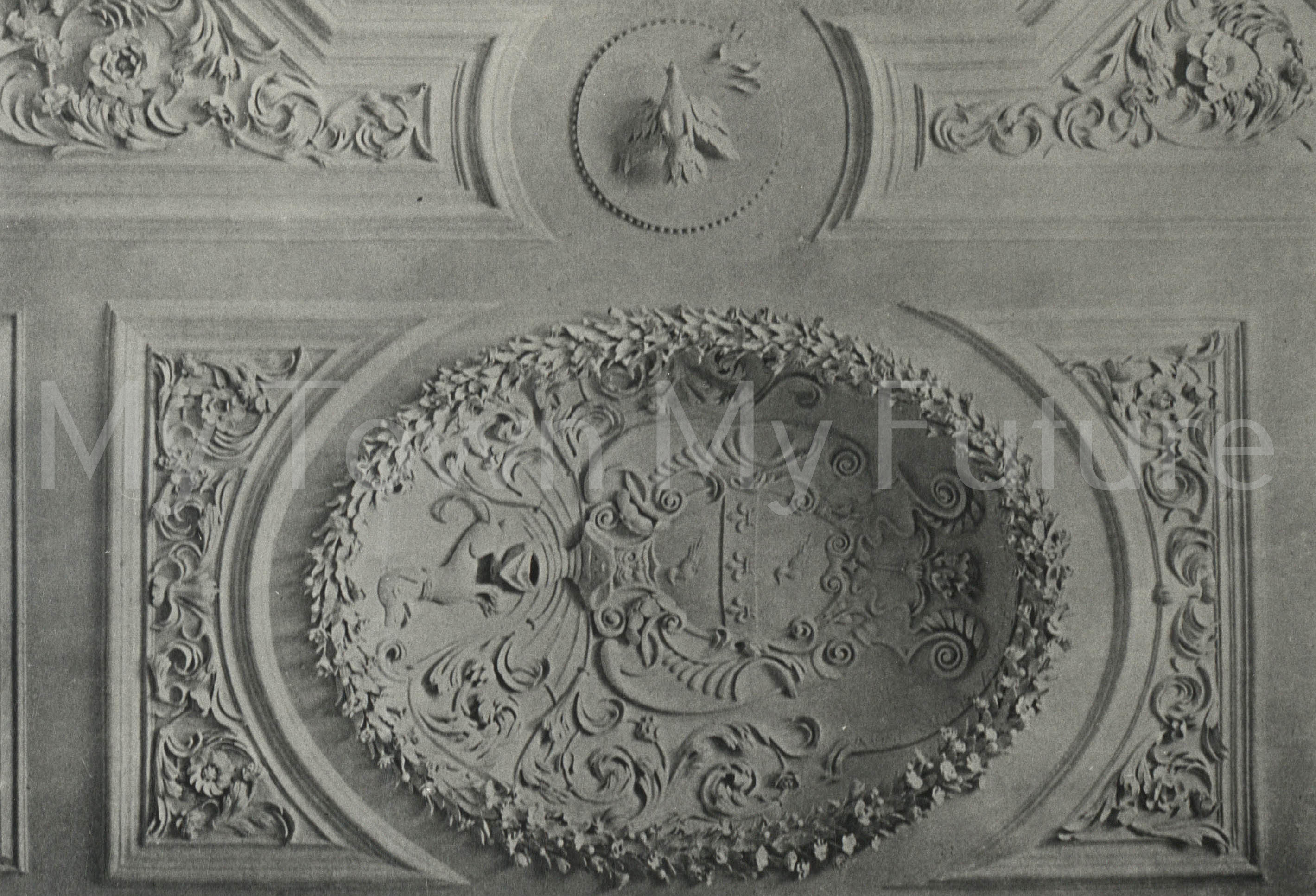 Acklam Hall 1684 plasterwork in large Drawing-room