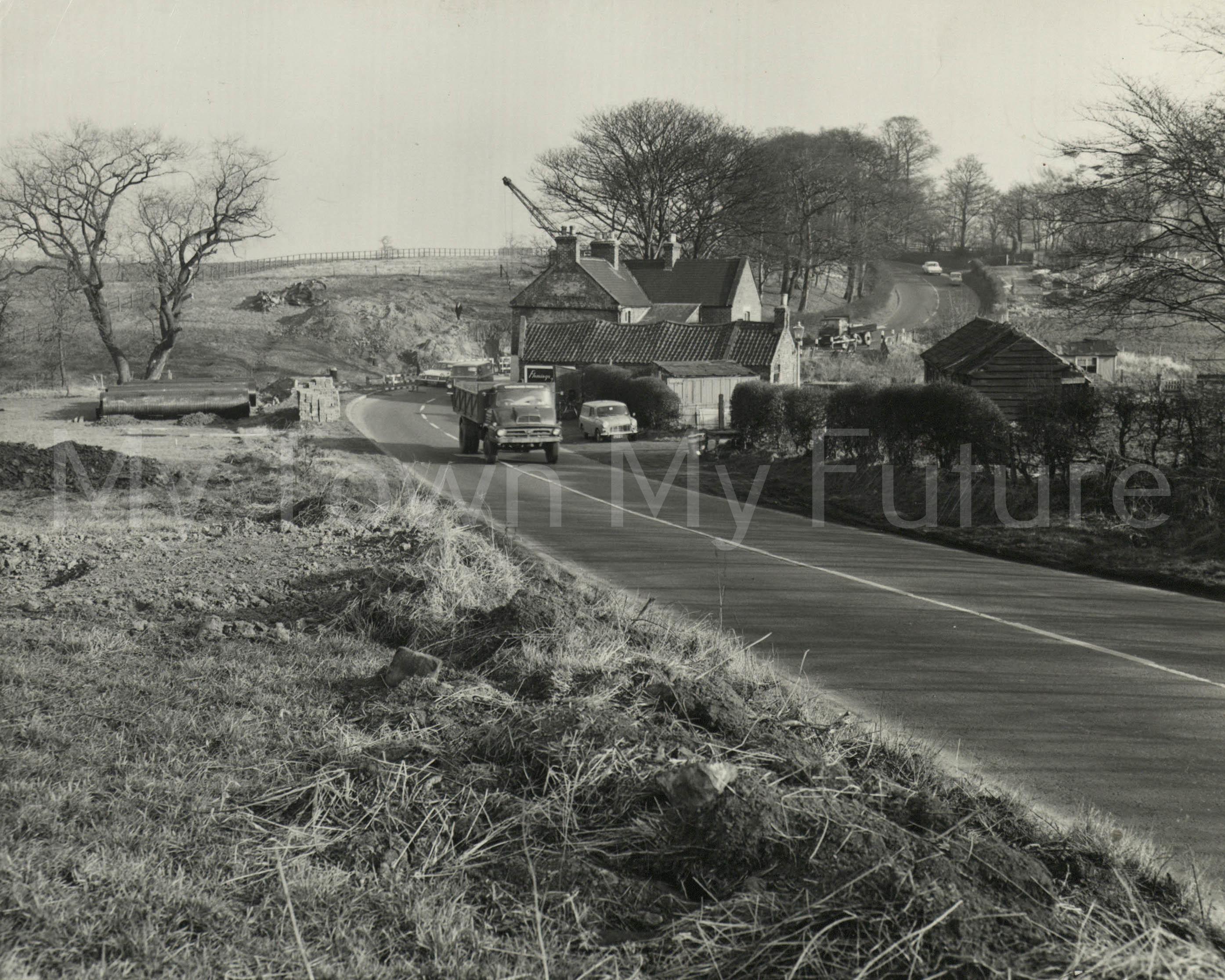 Ladgate Lane before reconstruction 1964