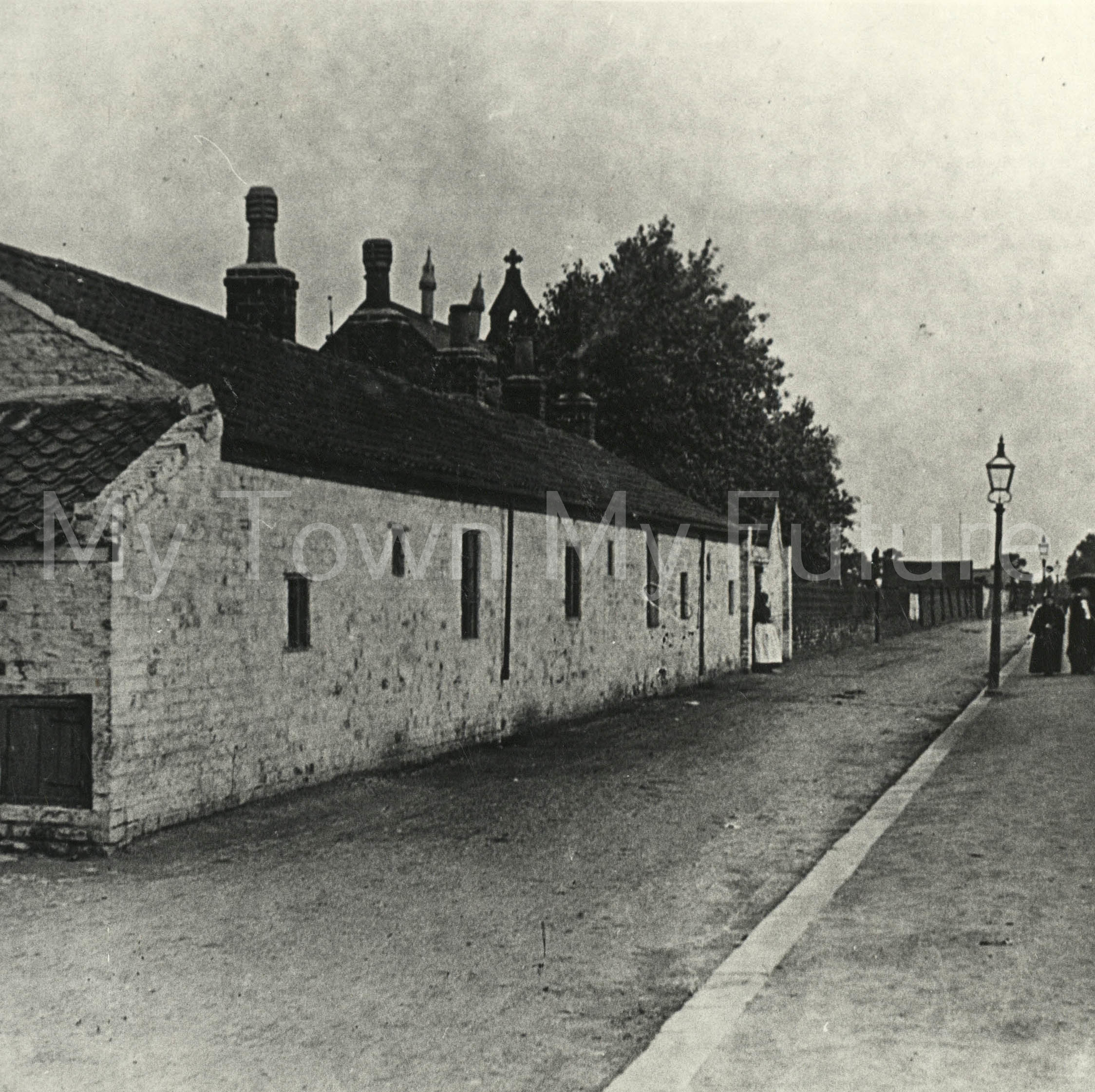 White Cottages, St Barnabas Road, Linthorpe, Middlesbrough. c.1900.