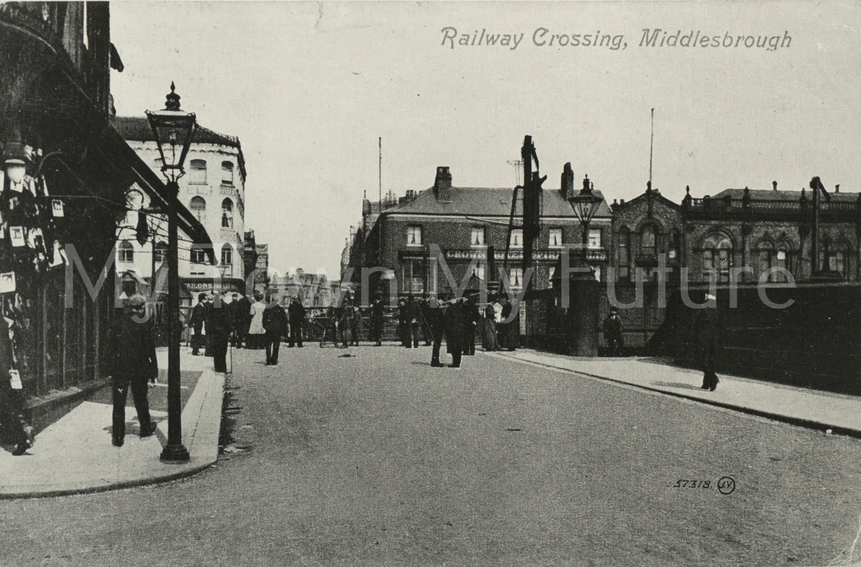 Postcard of the Railway Crossing