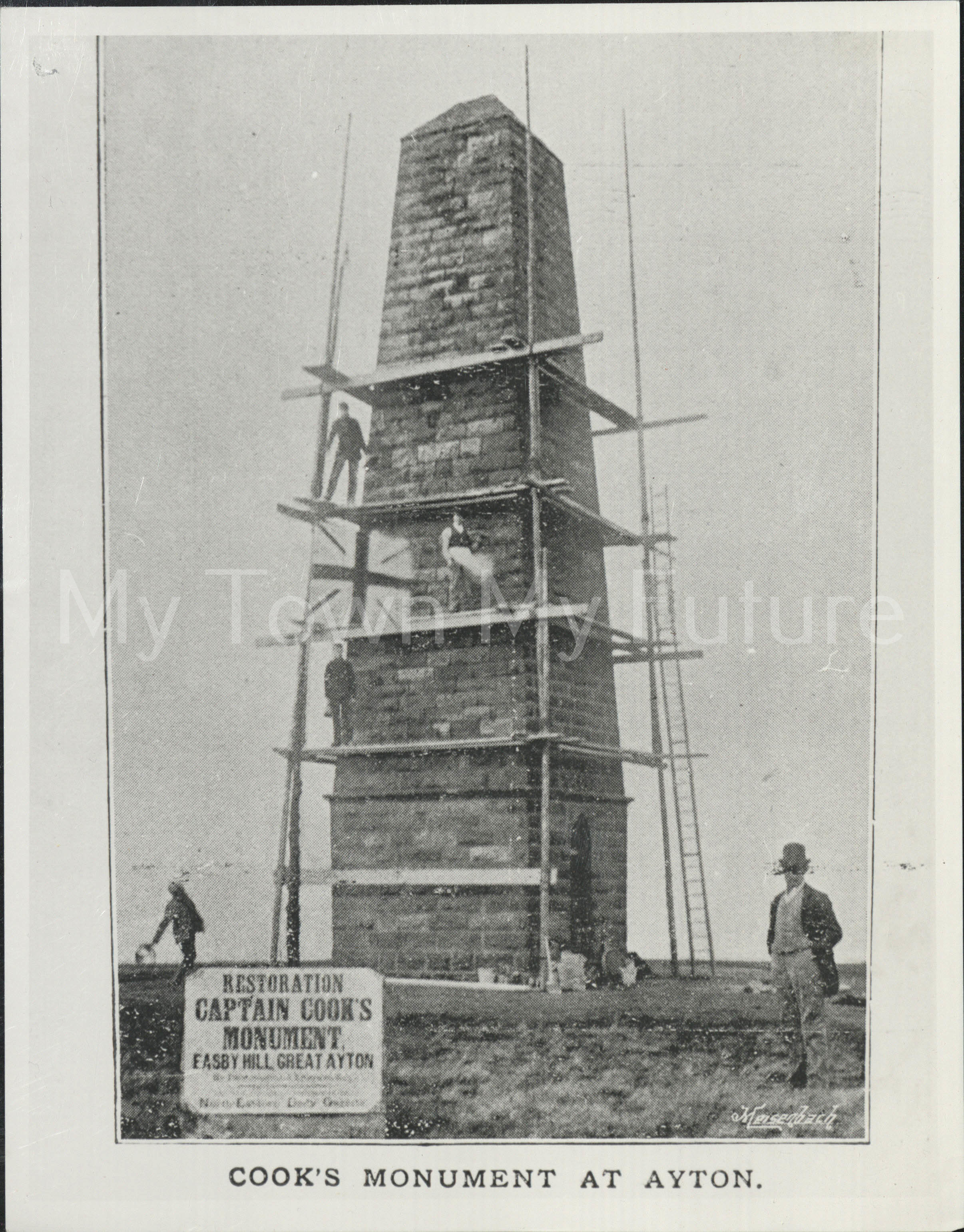 Captain Cook, Restoration Of Monument on Easby Hill