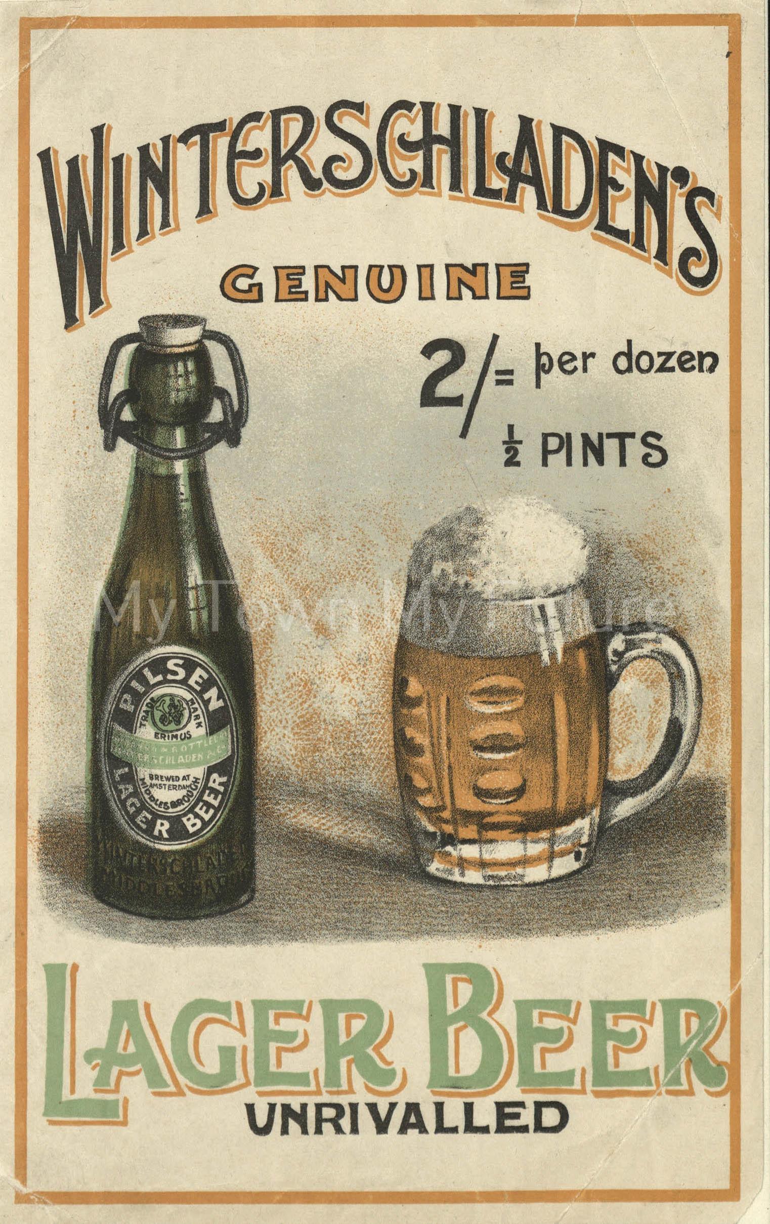 Winterschaden's Genuine Lager Beer, 1950