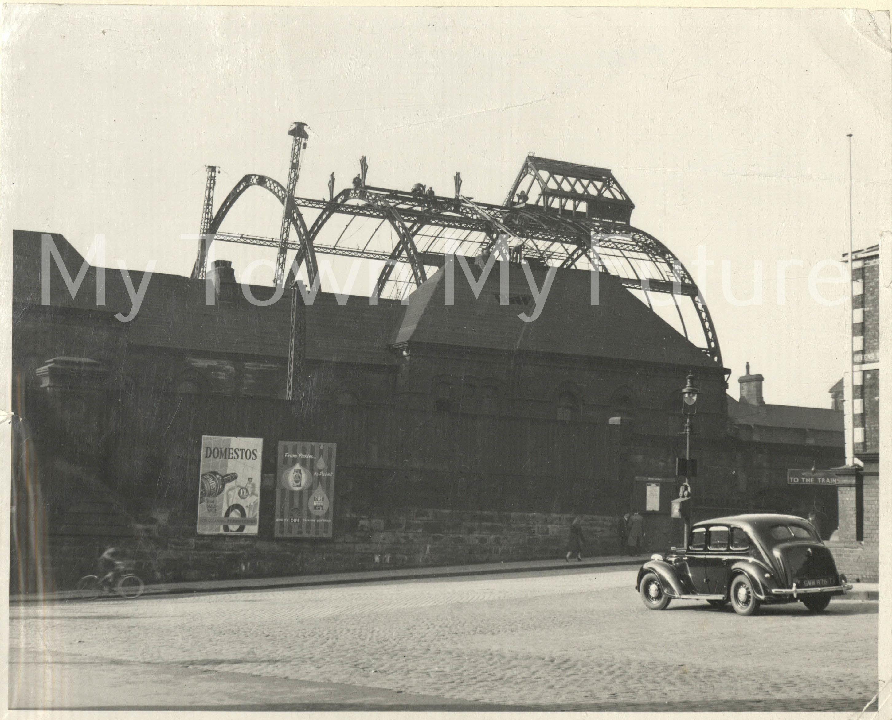 Middlesbrough Railway Station Removal Of Arched Roof 1954