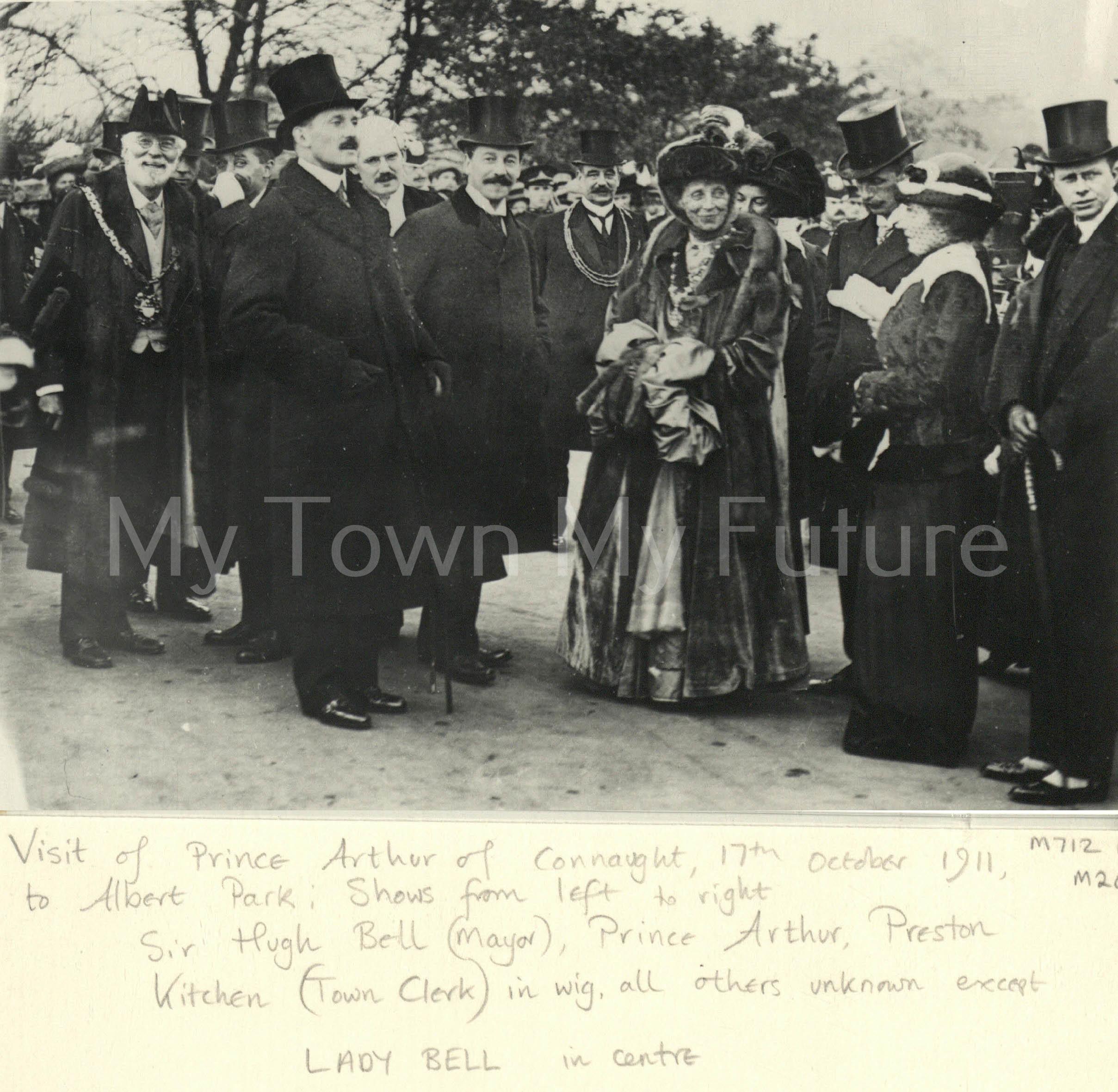Albert Park - Showing Hugh Bell - Prince Arthur Preston Kitchen, 17th October 1911 - Date of the Opening of the Transporter Bridge - Dennis Wompra