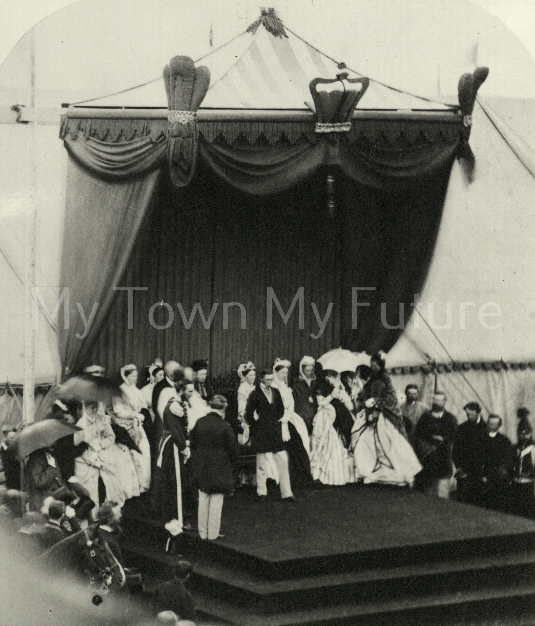 Albert Park - Opening of the Park by Prince Arthur of Connaught, 1868 - Dennis Wompra Photograher's - 86 Grange Road - Middlesbrough