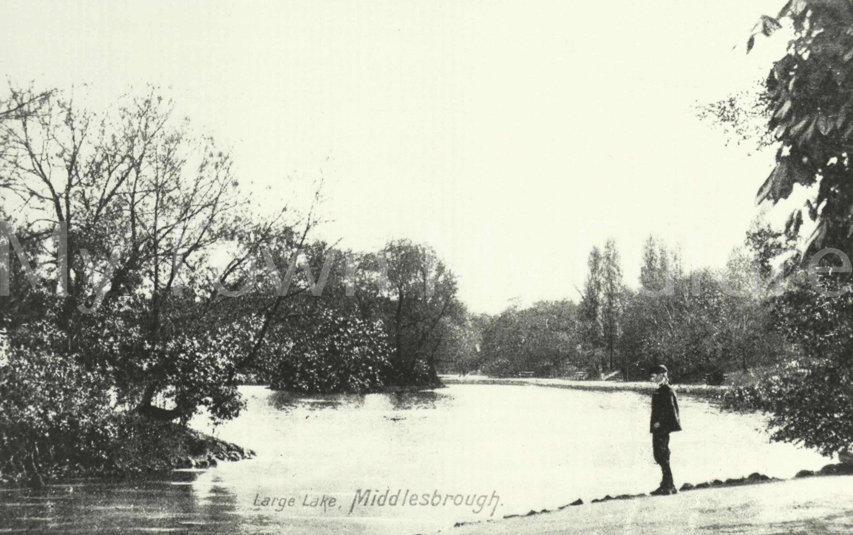Albert Park - View of the Large Lake, 1908