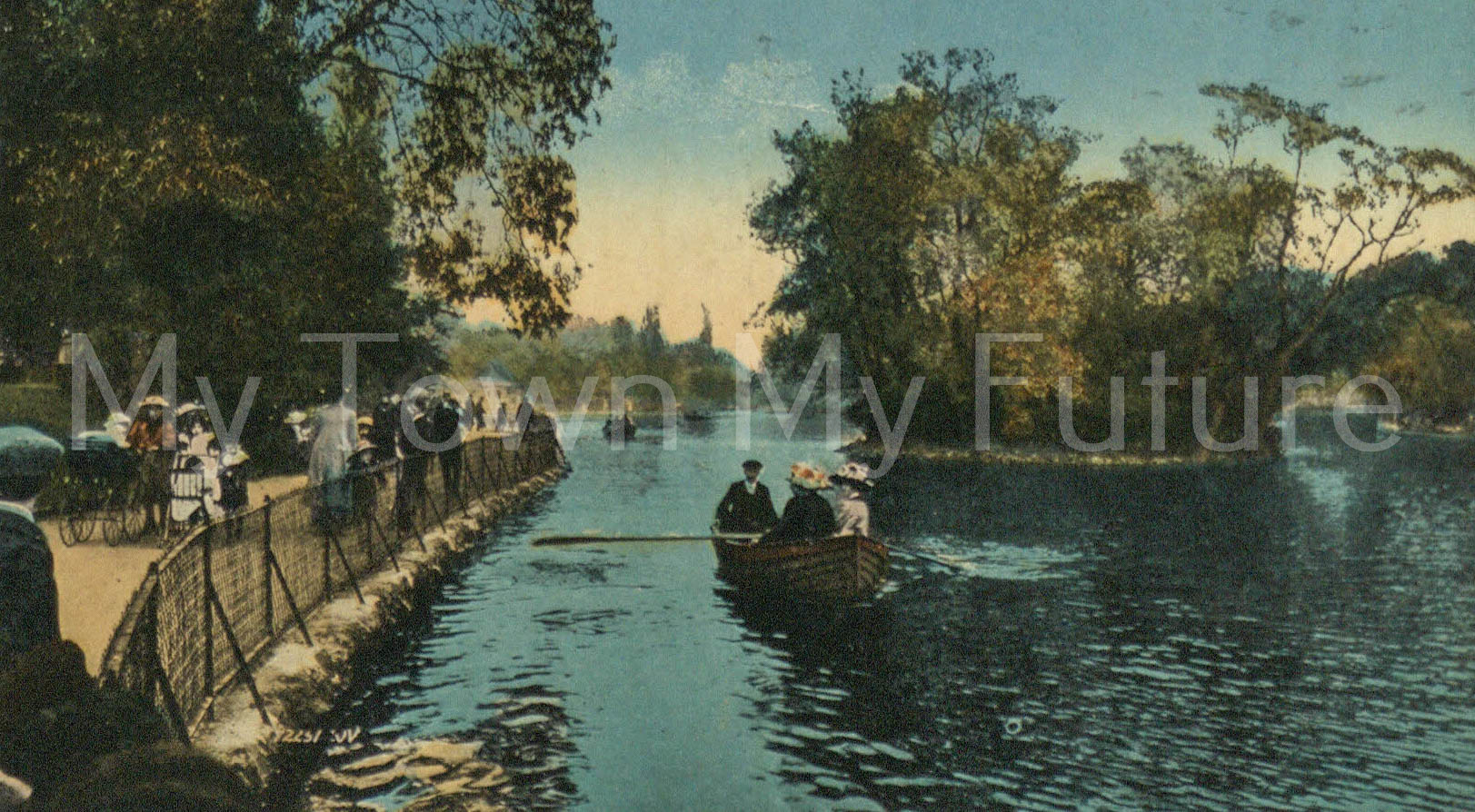 Albert Park - Postcard of the Lake - to Mrs M Vickers, Postmarked 14th June 1920, Valentine Series - Dundee