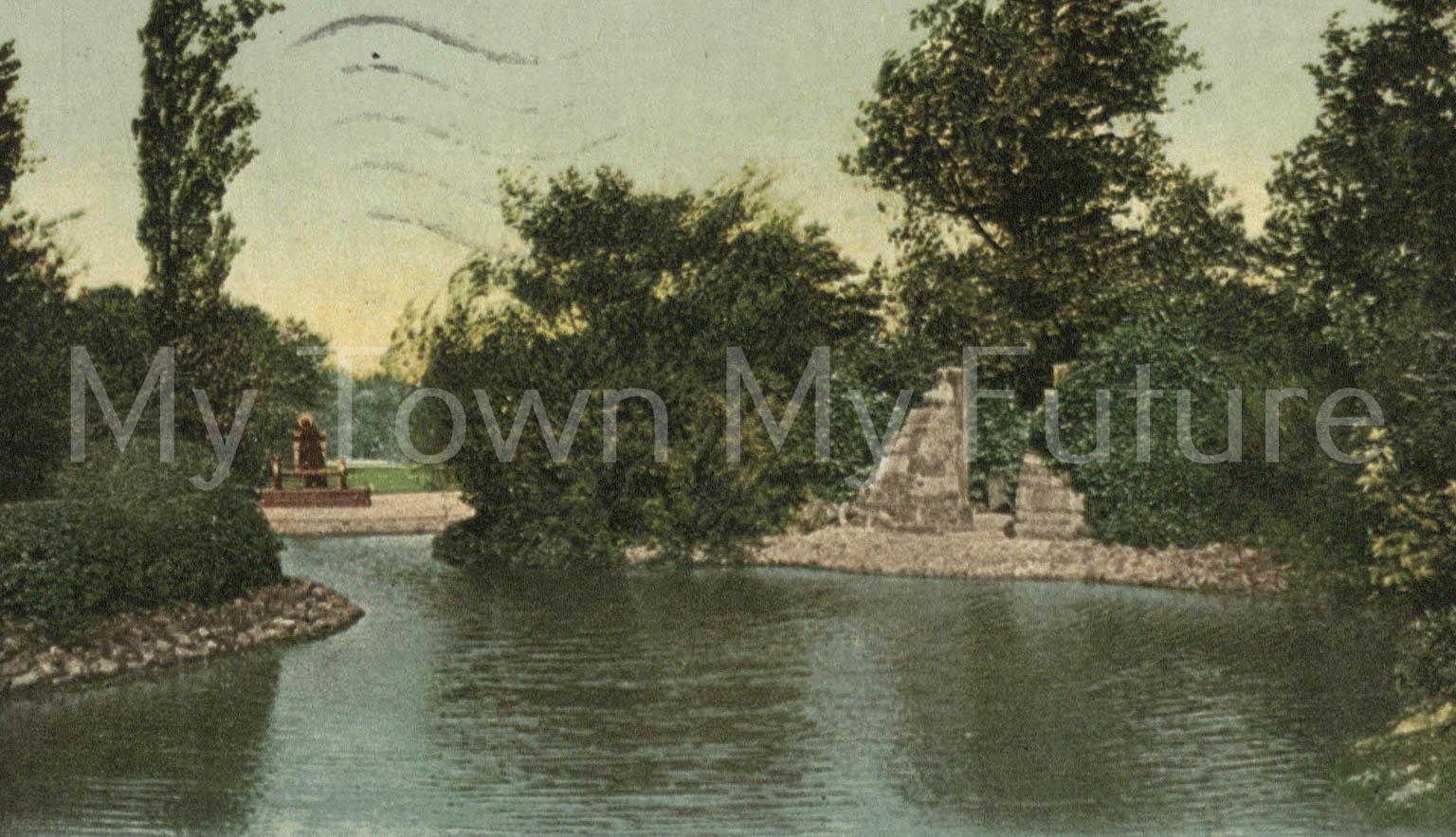 Albert Park Lake Scene - to Mrs Beadle, Postmark - 13th January 1923