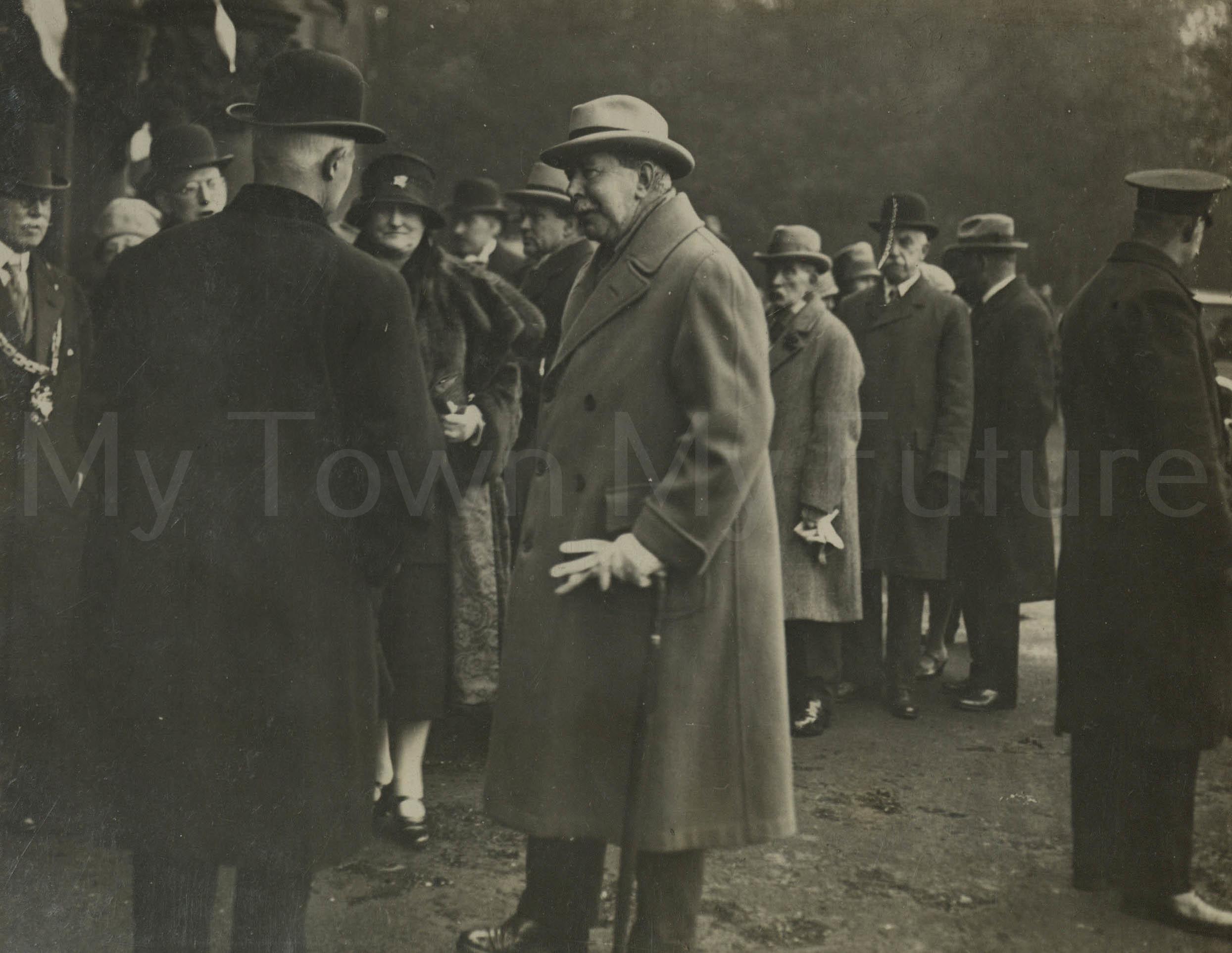 Stewart Park - Opening Mr Stewart talking to C.H.F. B