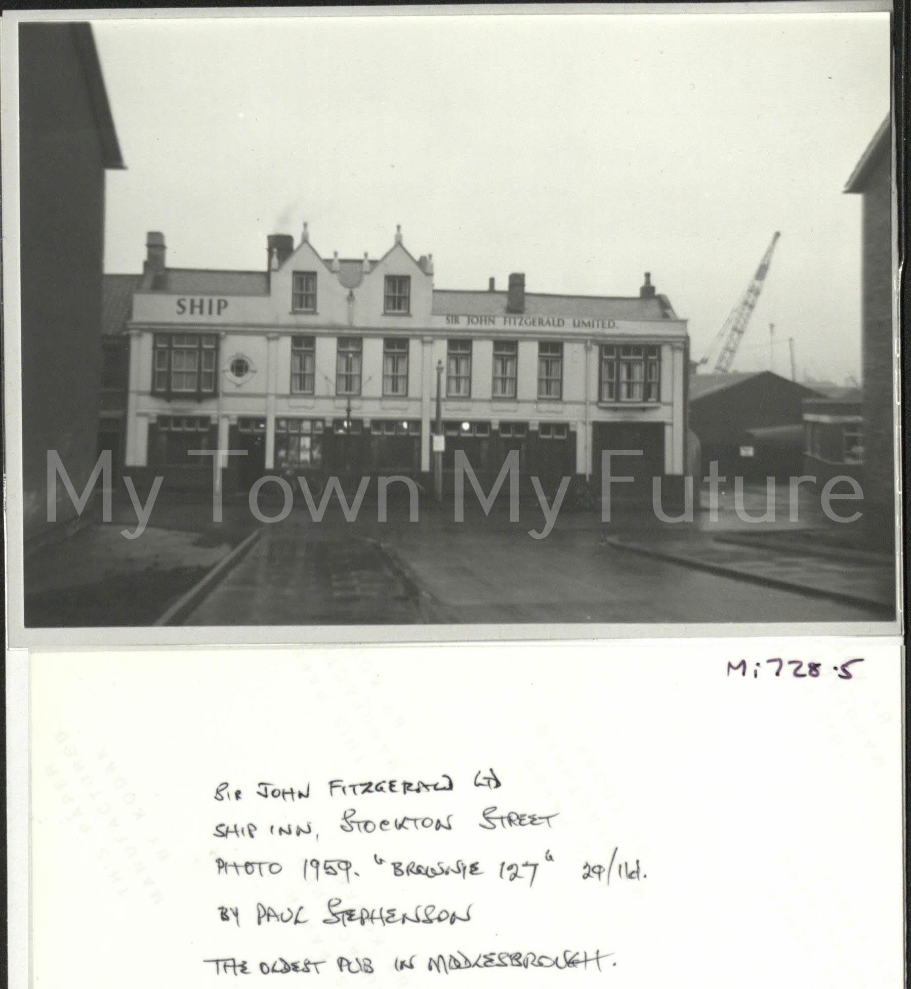 The Ship Inn - Stockton Street - St Hilda's, 1959, Paul Stephenson