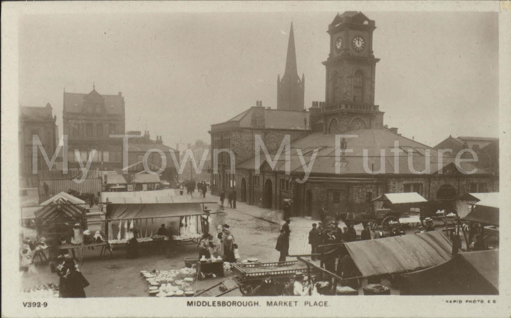 Market Place St Hilda's Postcard