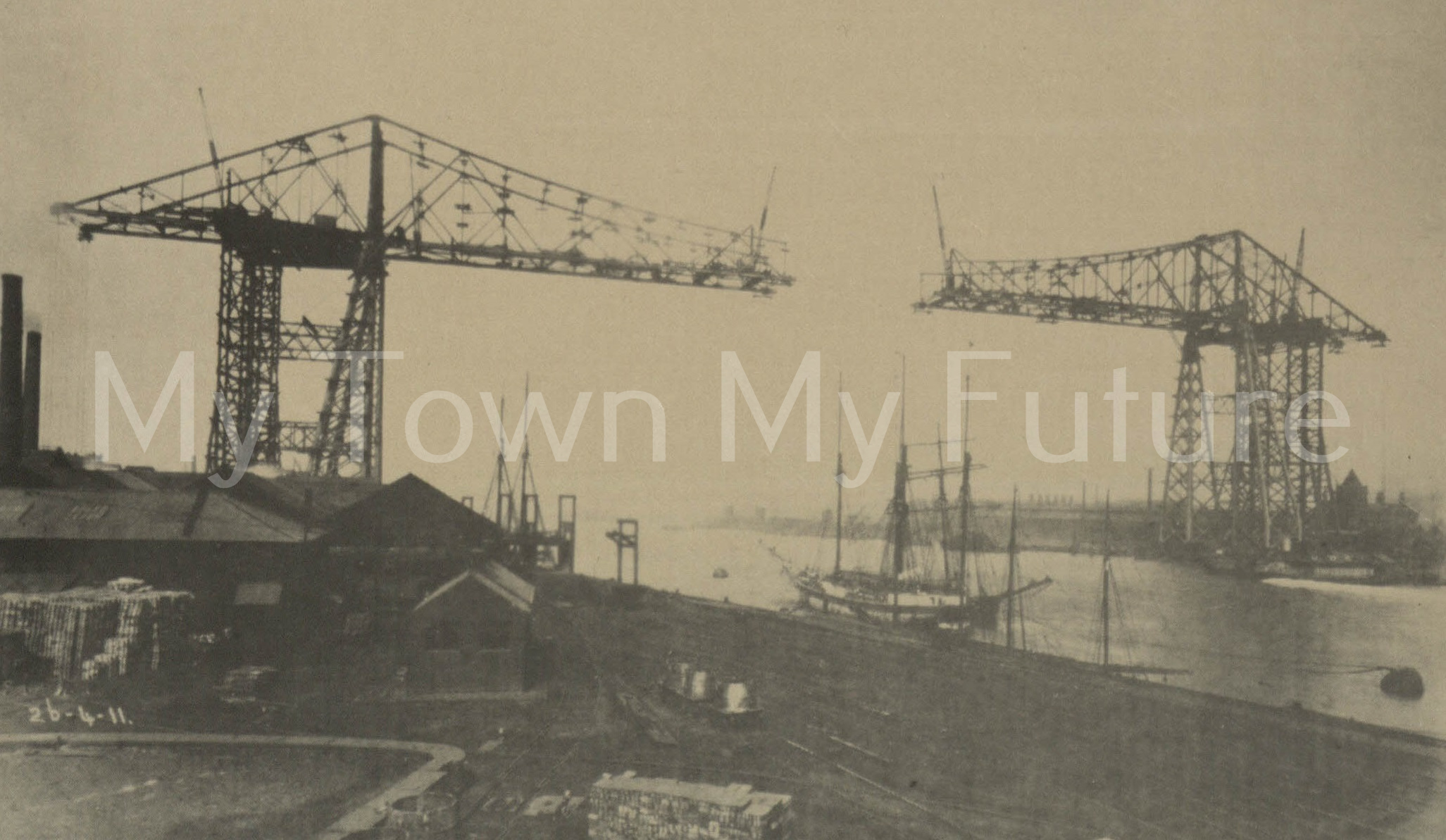 Transporter Bridge - Under Construction 1911