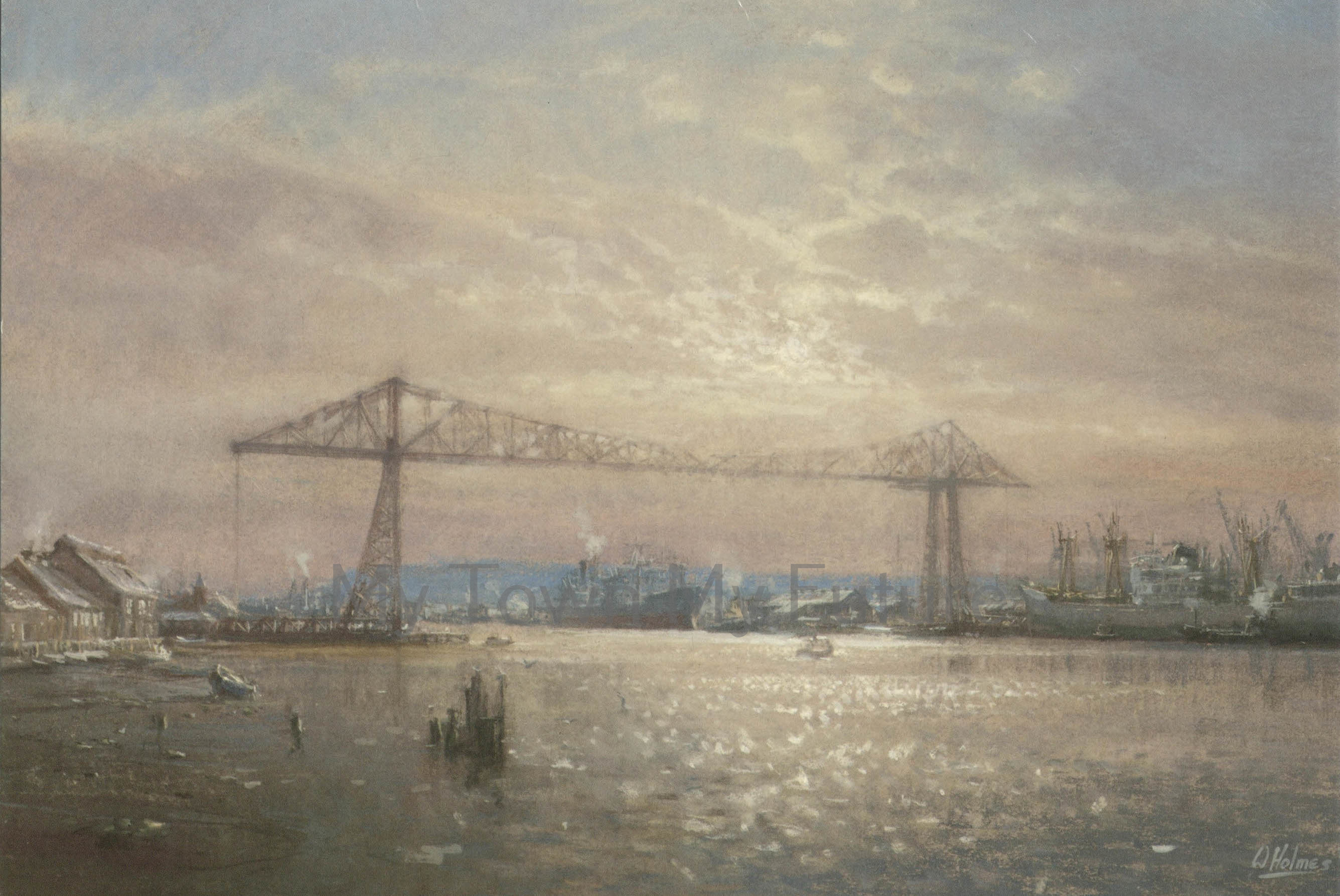 Transporter Bridge - Christmas Card by Walter Holmes, Oakwood Cards Ltd