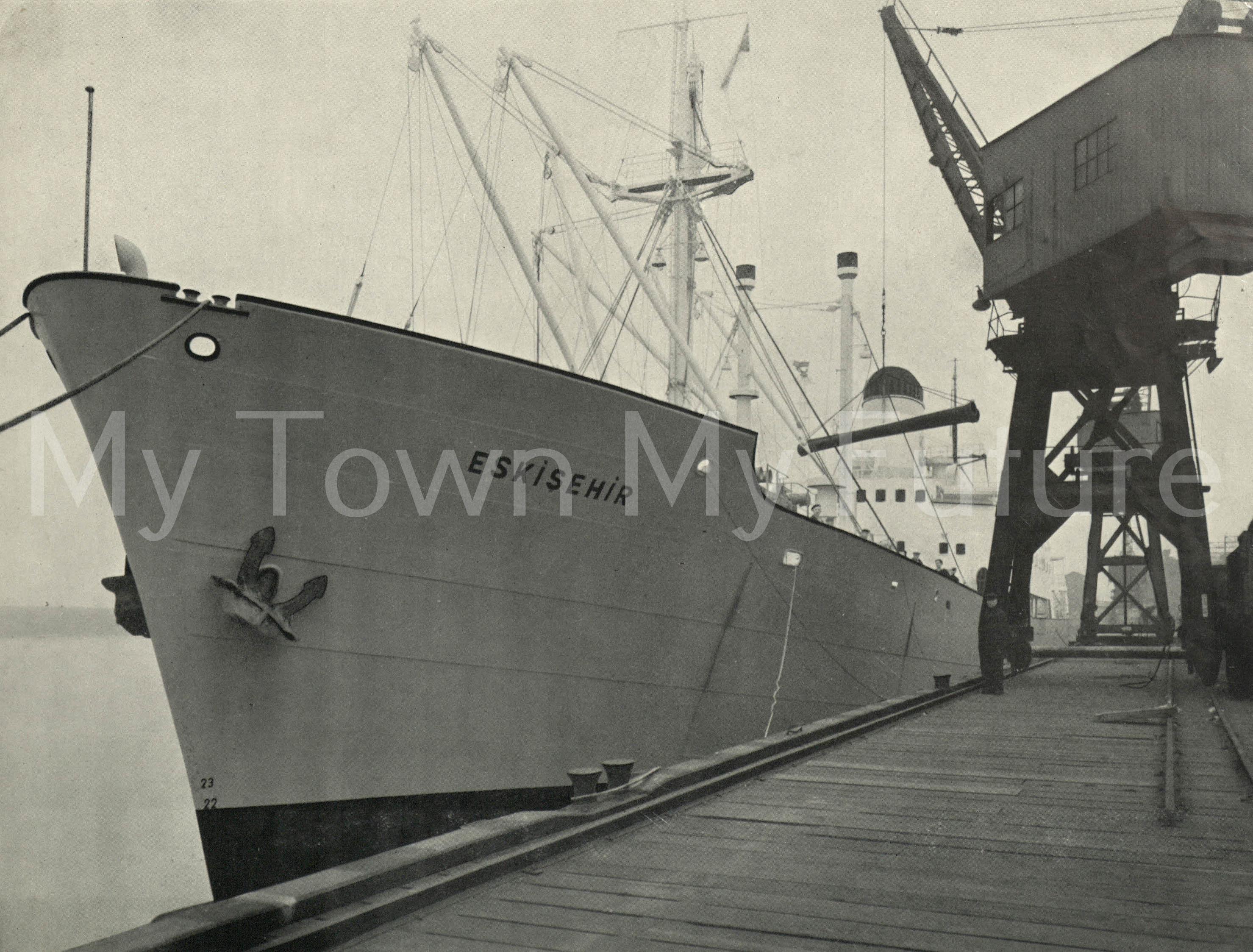 The Ship 'Eskishir' in Dock