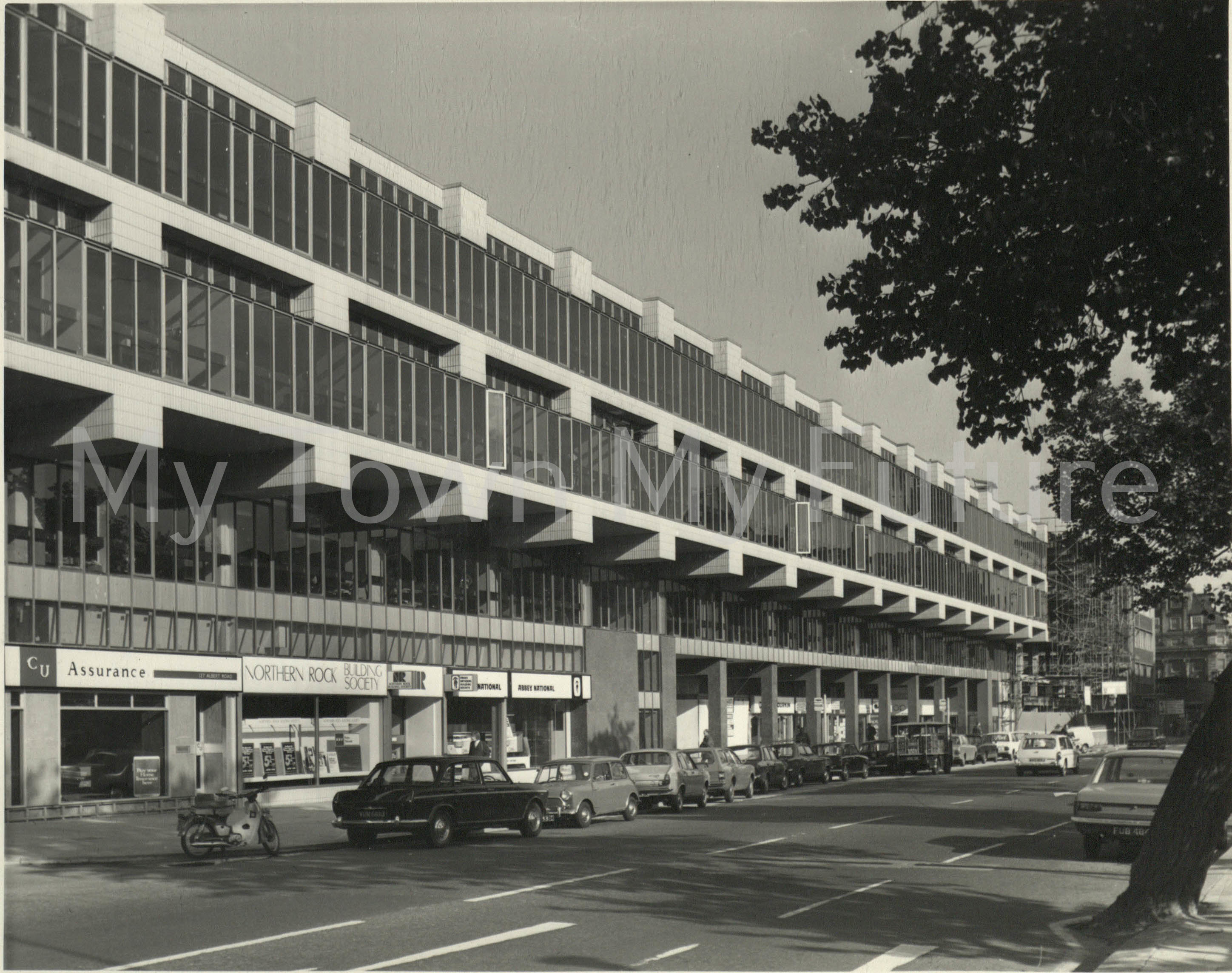Cleveland Centre - Albert Road side-newly built-opened in stages 1970 - 1971, 1st Store Dean Wycherley's Record Shop opened 12 Aug 1970