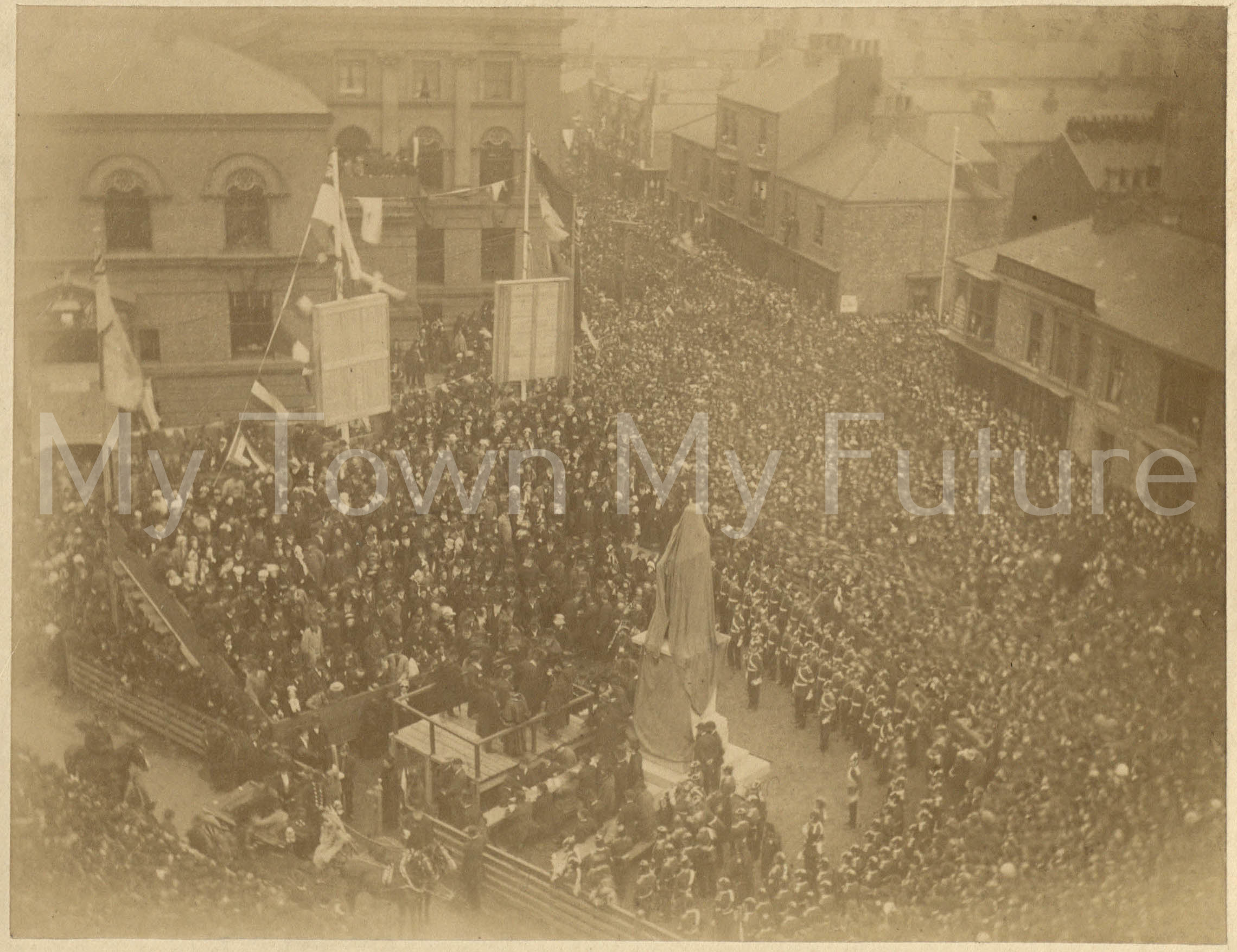 HWF Bolckow's Statue Unveiling, 6 October 1881, Middlesbrough Public Libraries
