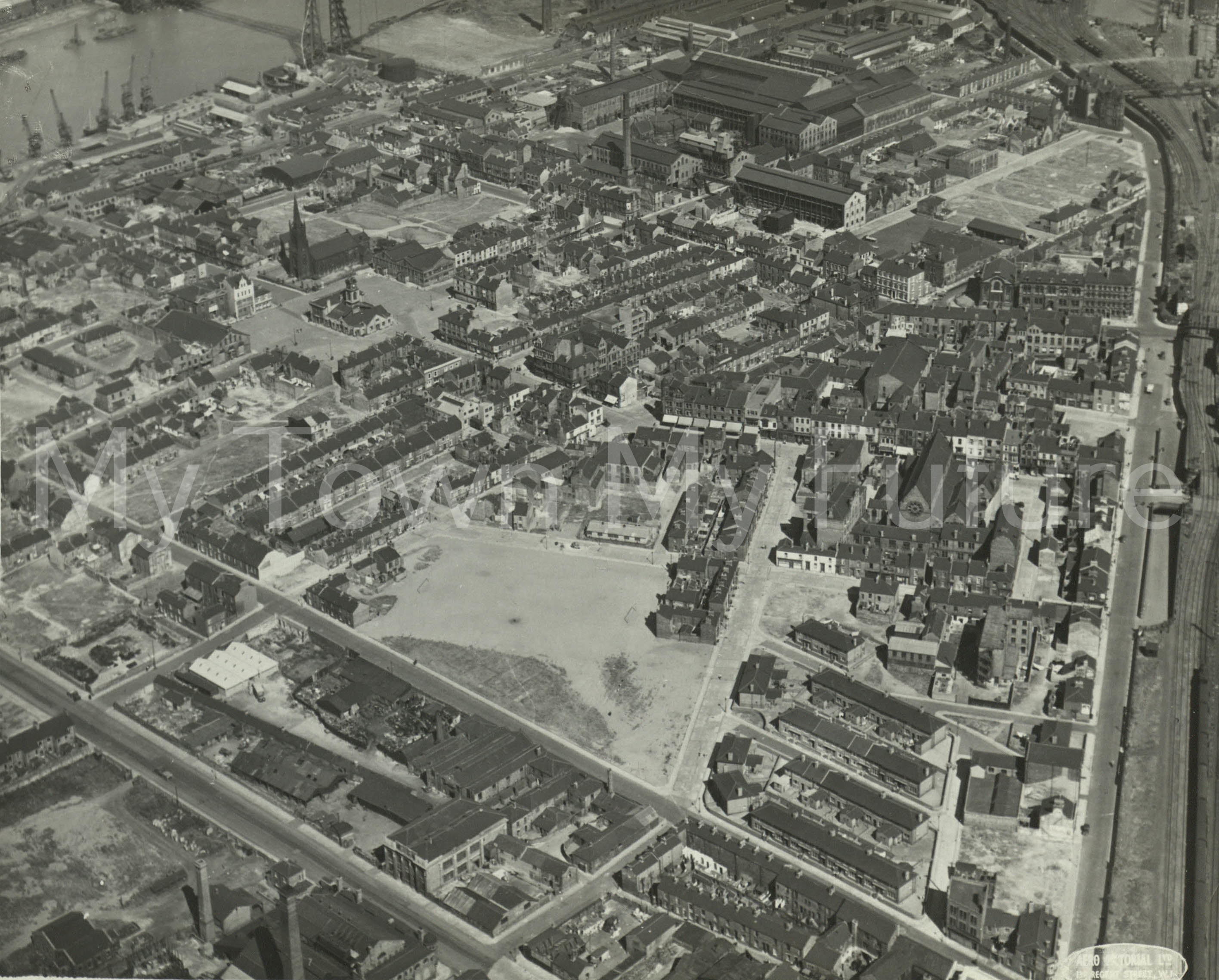 Middlesbrough Market Place & St Hilda's 1951