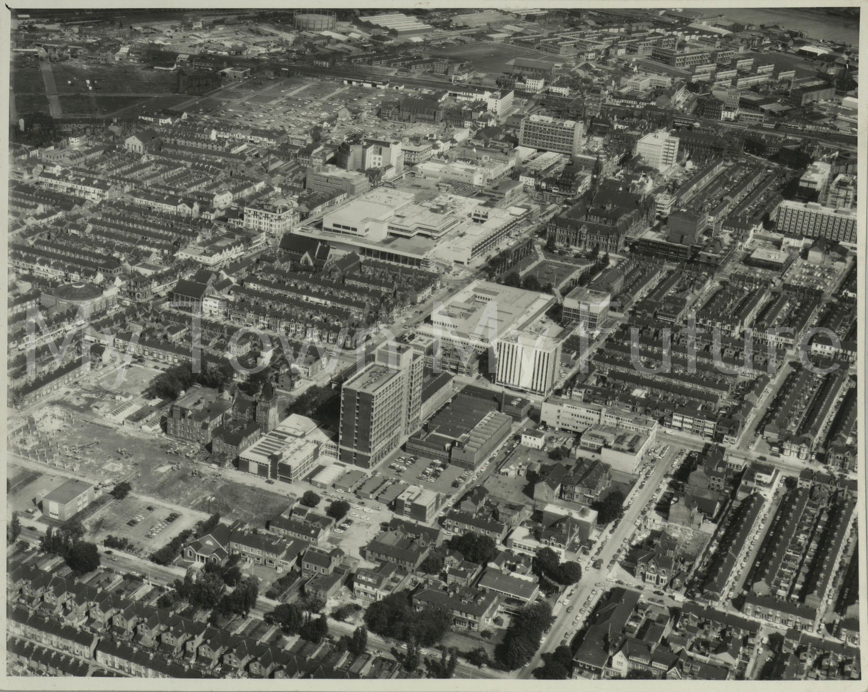 Middlesbrough Town Centre, 1972, Aerofilms