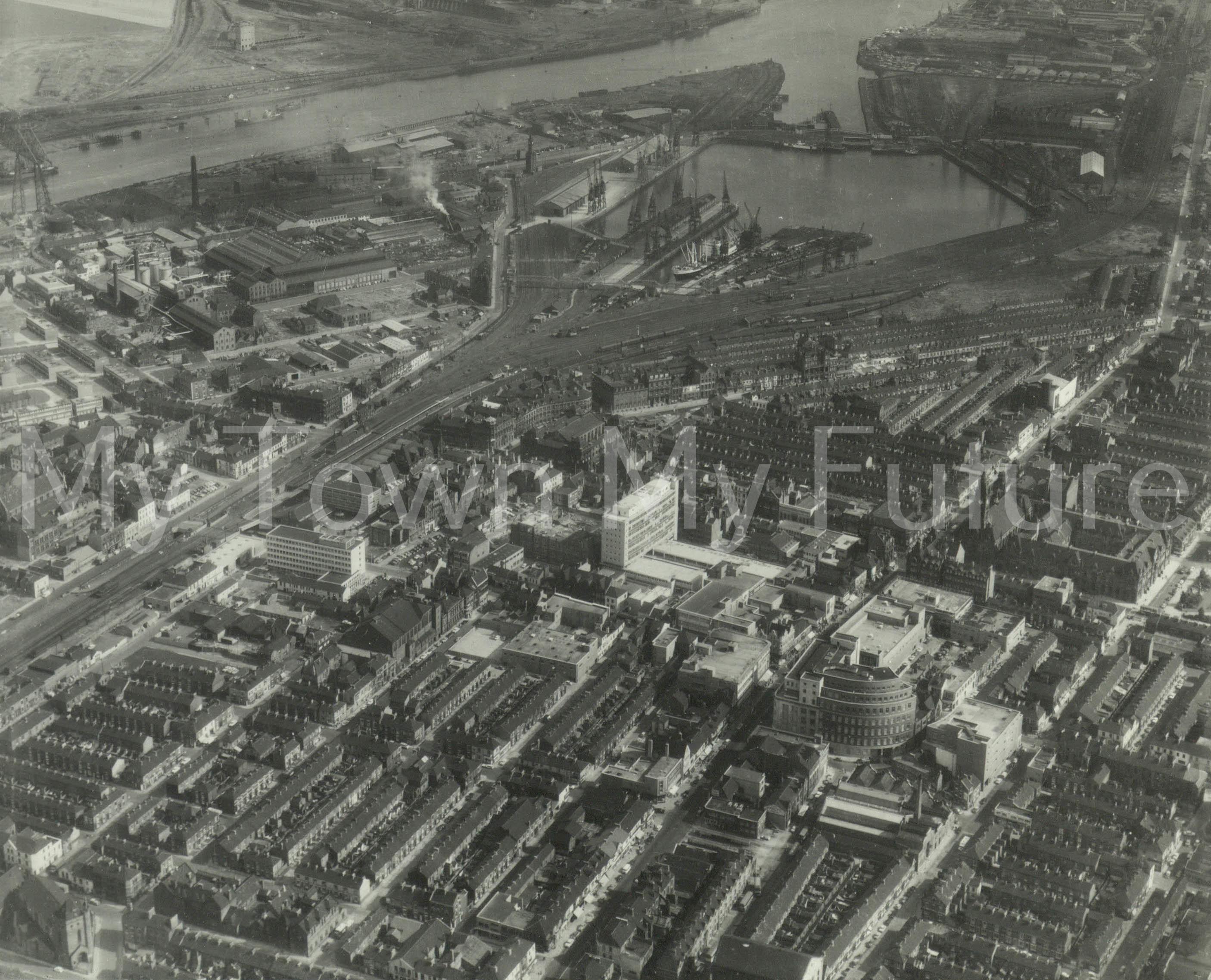 Middlesbrough Town Centre & Docks 1965