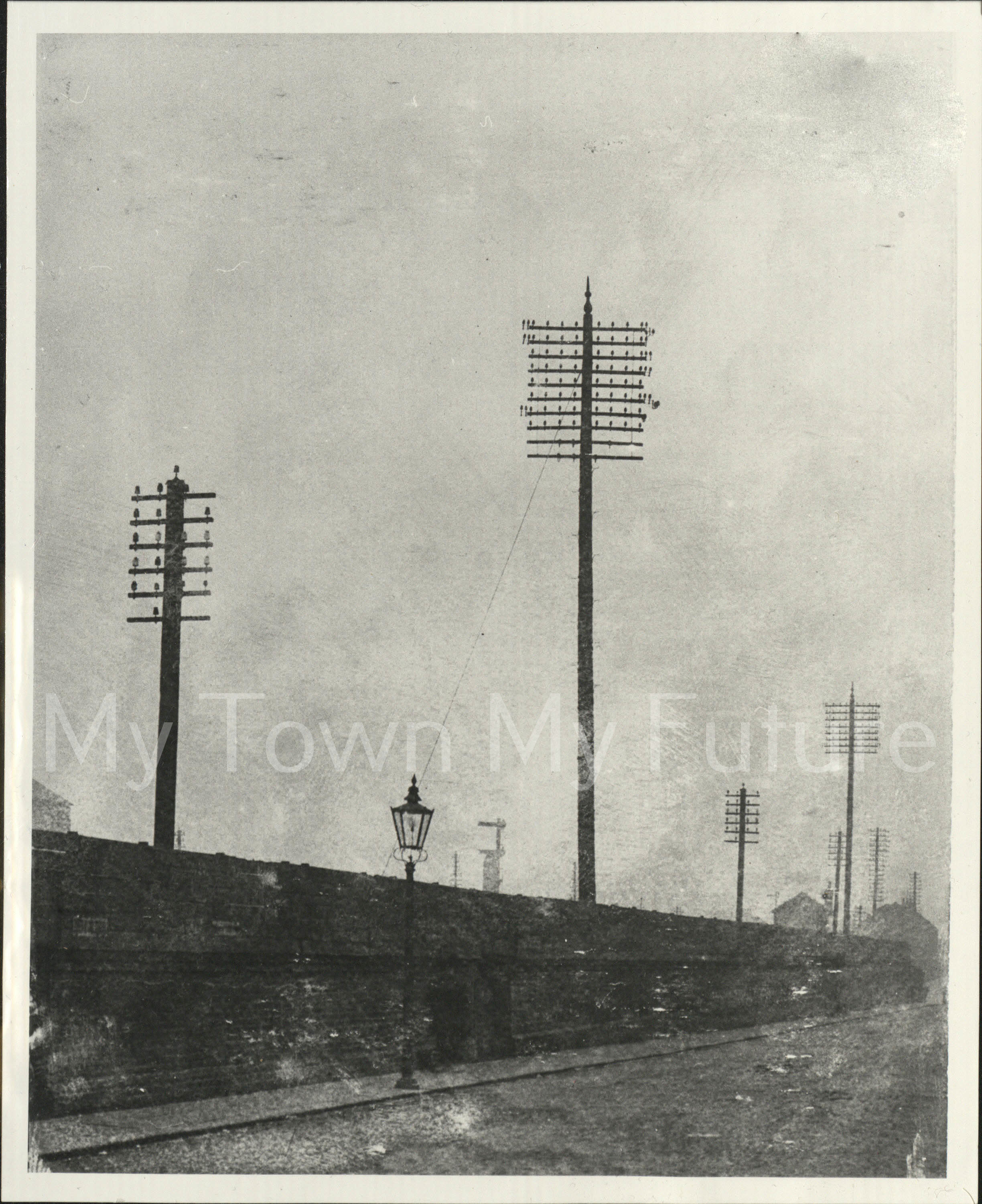 Telephone Poles, September 1910, Department of Planning - Cleveland County Council