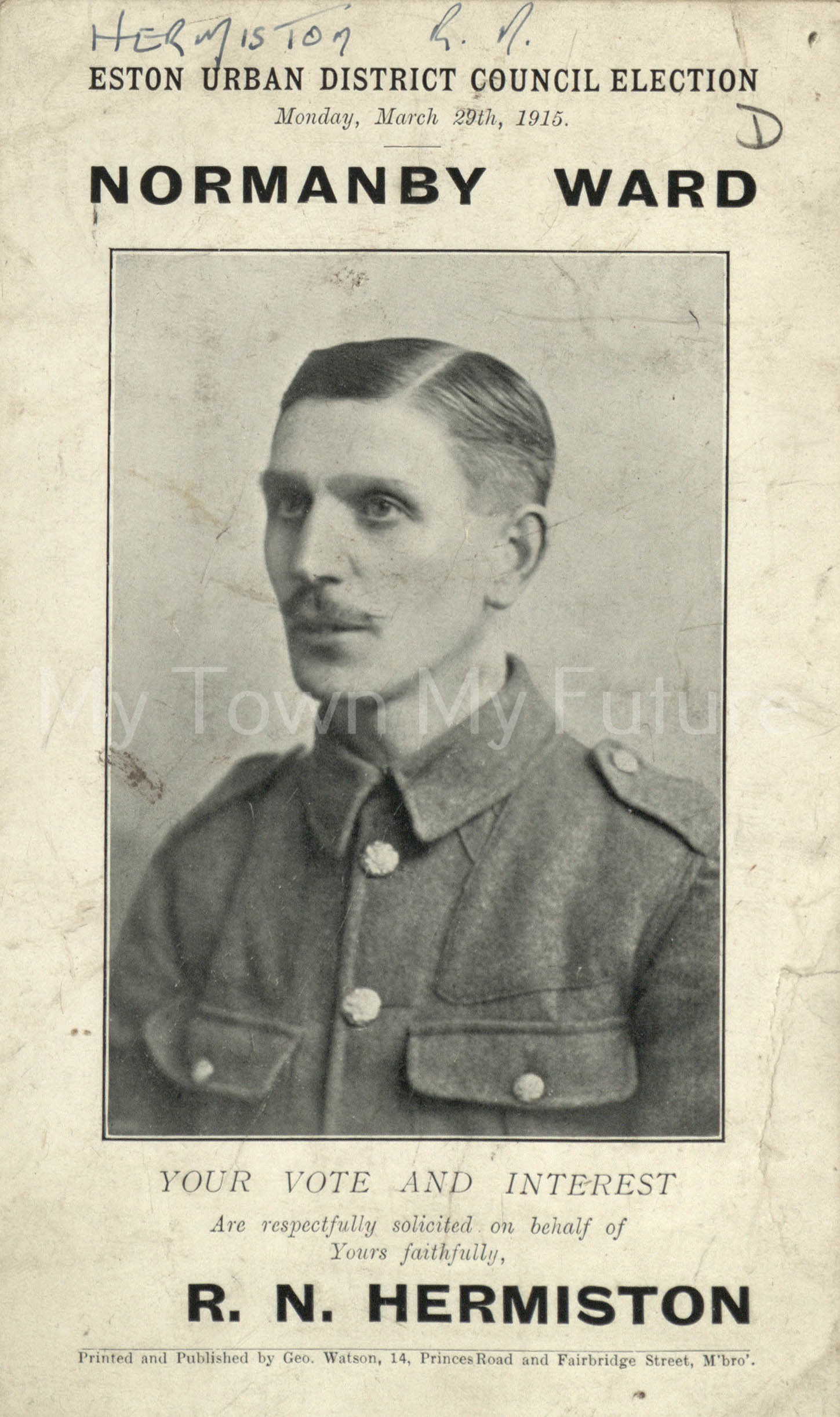 R.N.Hermiston 29th March 1915