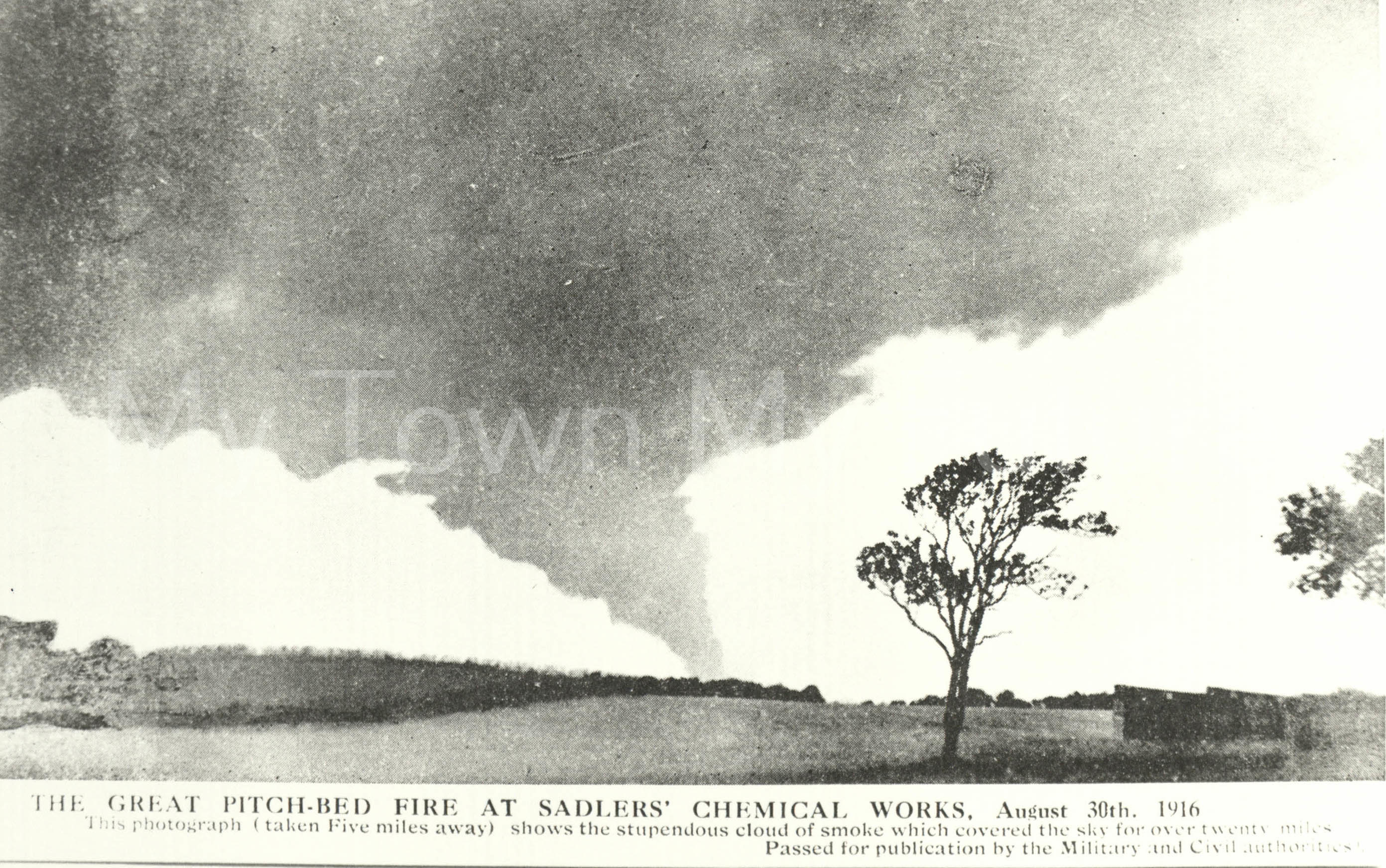 Sadlers Chemical Works Fire 30th August 1916